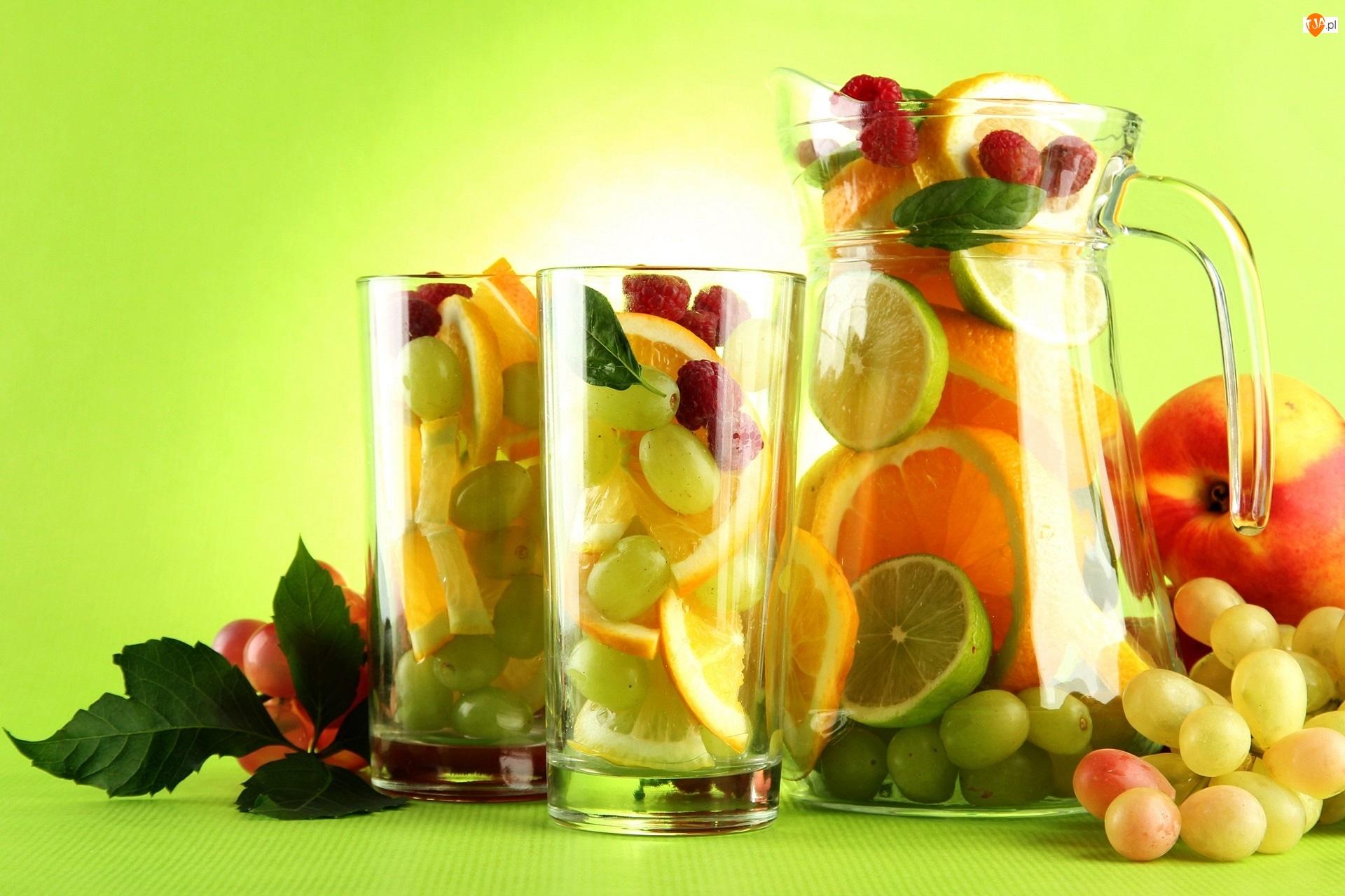 Owocowy Deser, Winogrona, Pomarańcze, Jabłko, Limonki