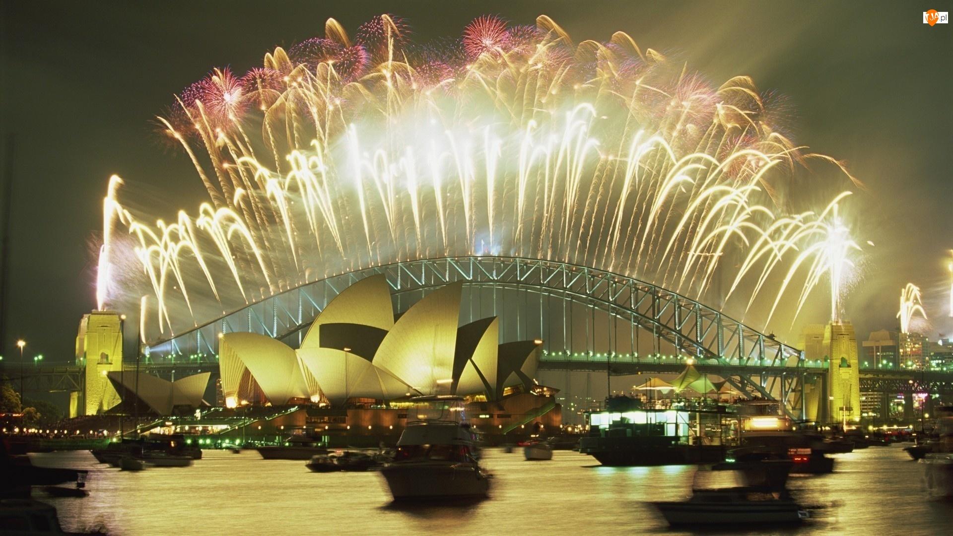 Opera, Fajerwerki, Sydney, Australia