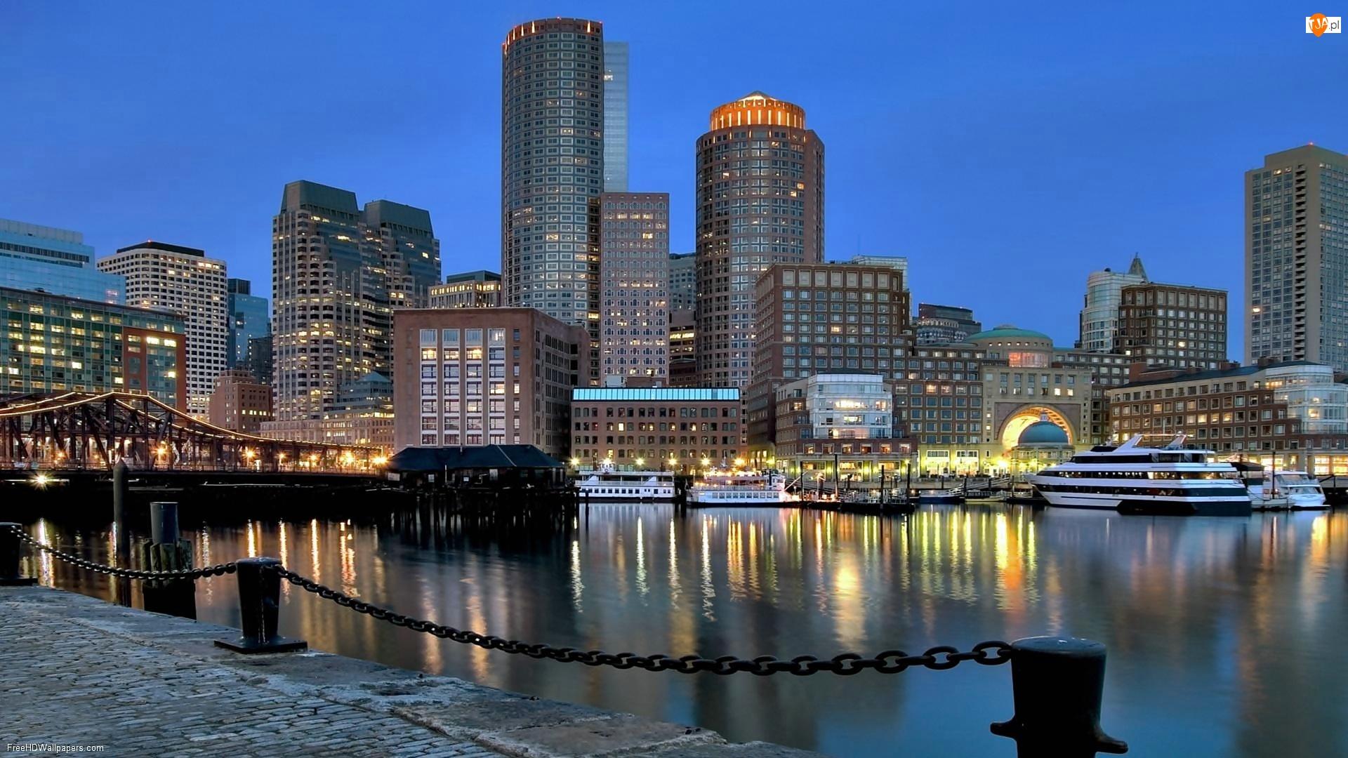 Bostonu, Nocna, Panorama