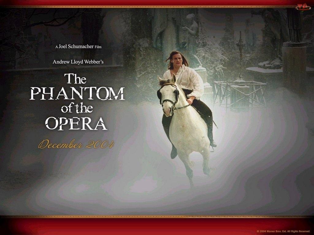 Phantom Of The Opera, mężczyzna, zima, koń