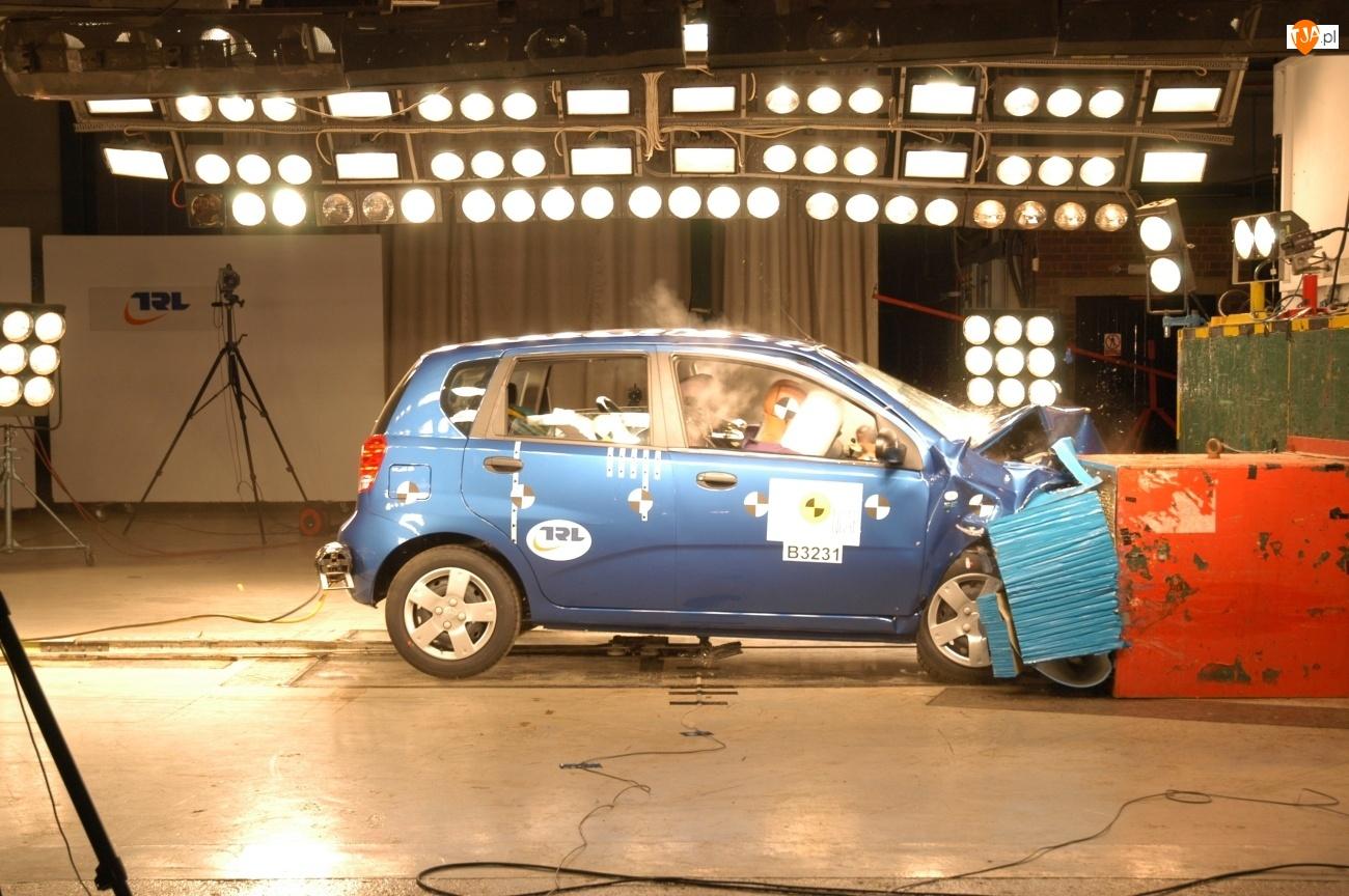 Test, Chevrolet Kalos, Crash