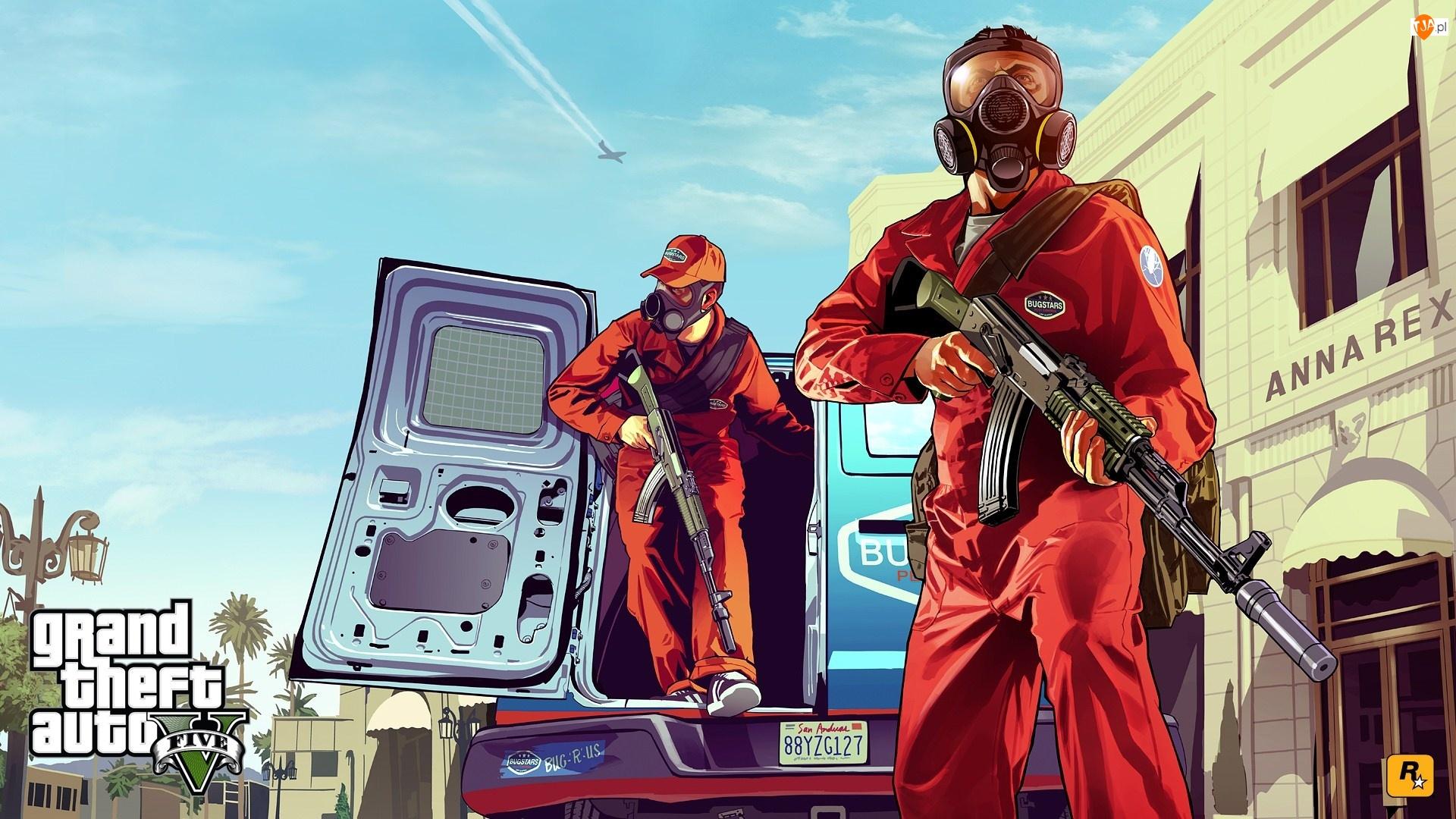 Broń, Gra, Samochód, GTA, Postacie