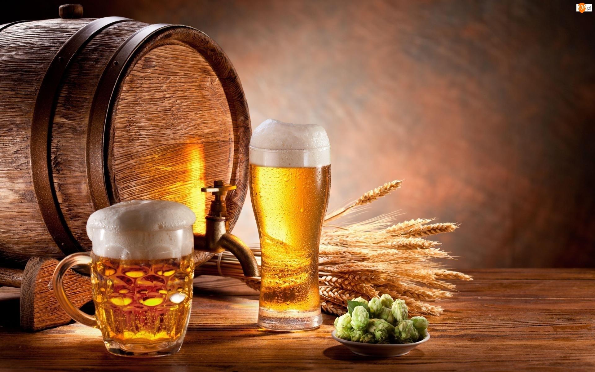 Piwo, Szklanki, Beczka