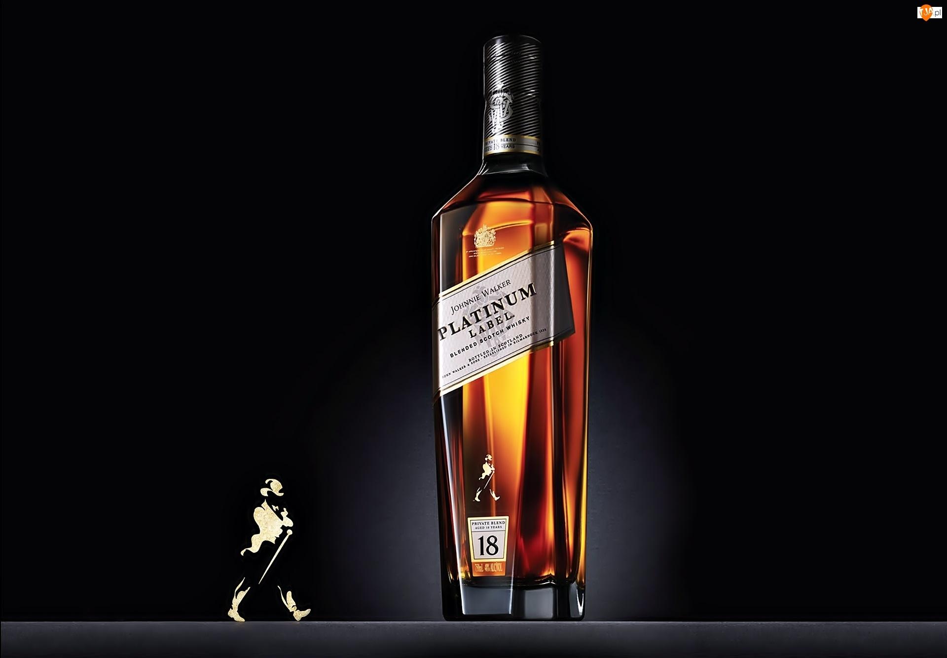 Johnnie, Platinum, Butelka, Label, Whisky, Walker