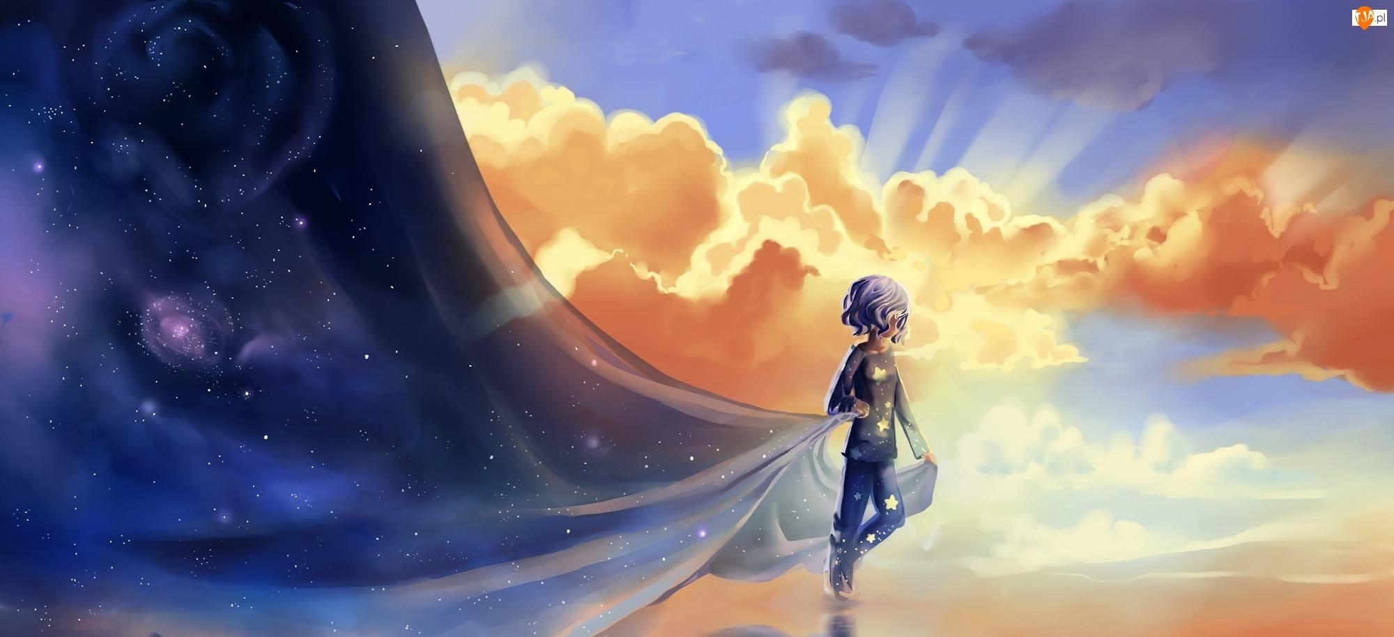 Chibionpu, Gwiazdy, Dziecko, Niebo