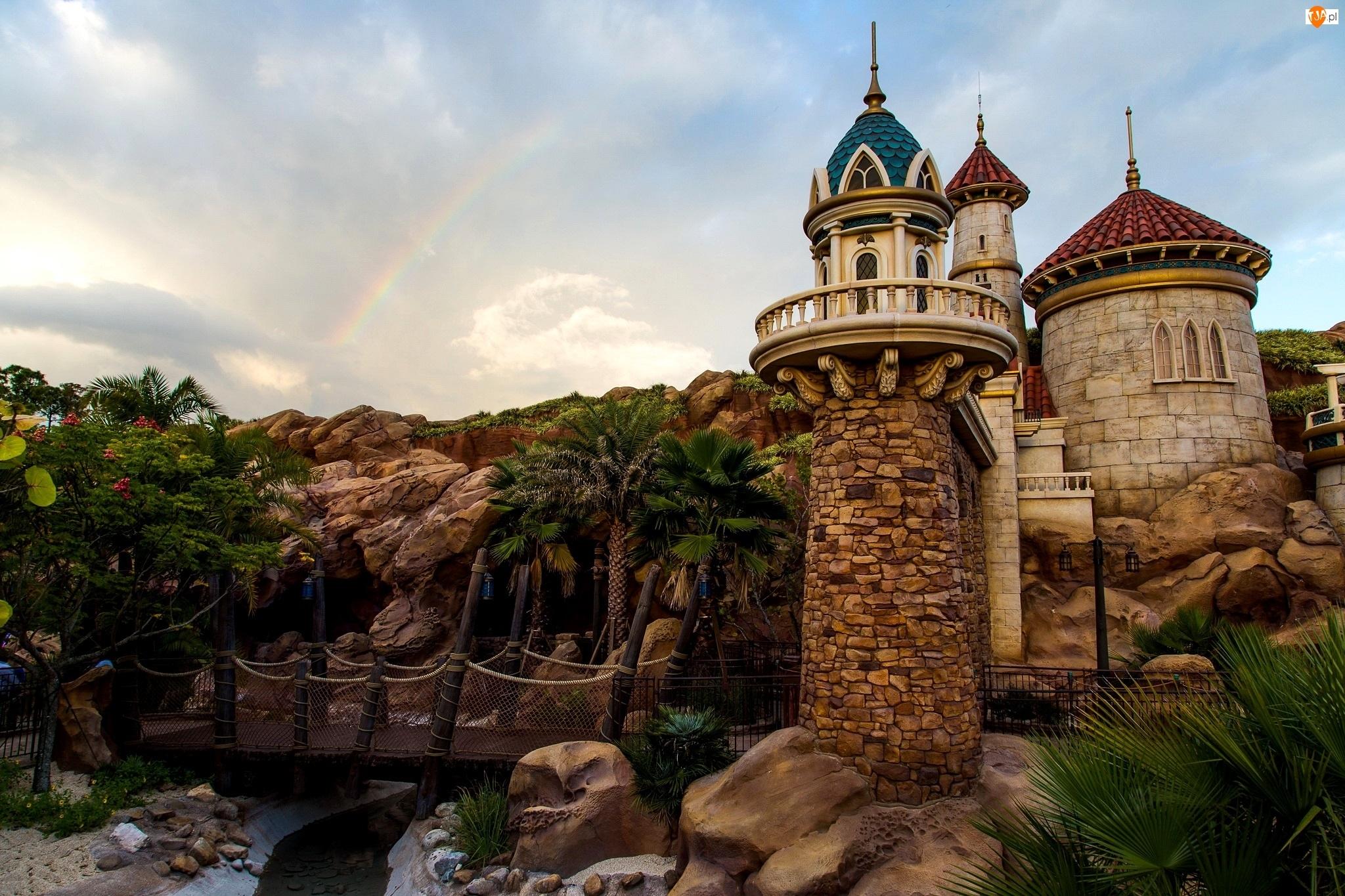 Park Rozrywki, USA, Baszty, Disneyland, Kalifornia