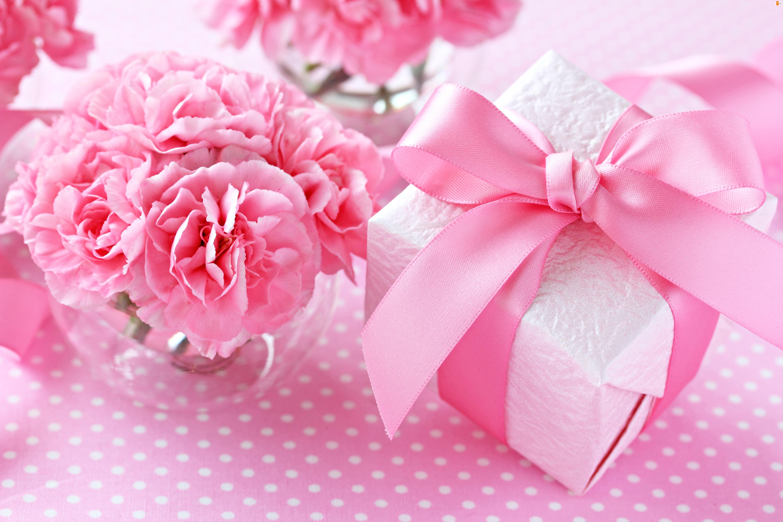 Urodziny, Prezent, Różowe, Gozdziki, Podziękowanie, Kwiaty, Dzień Kobiet