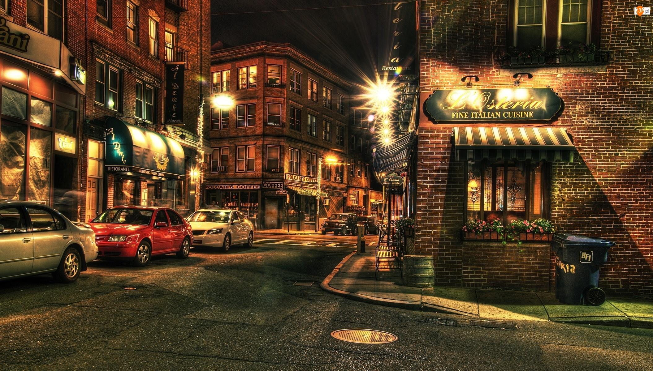 HDR, Ulica, Noc, Miasto, Boston