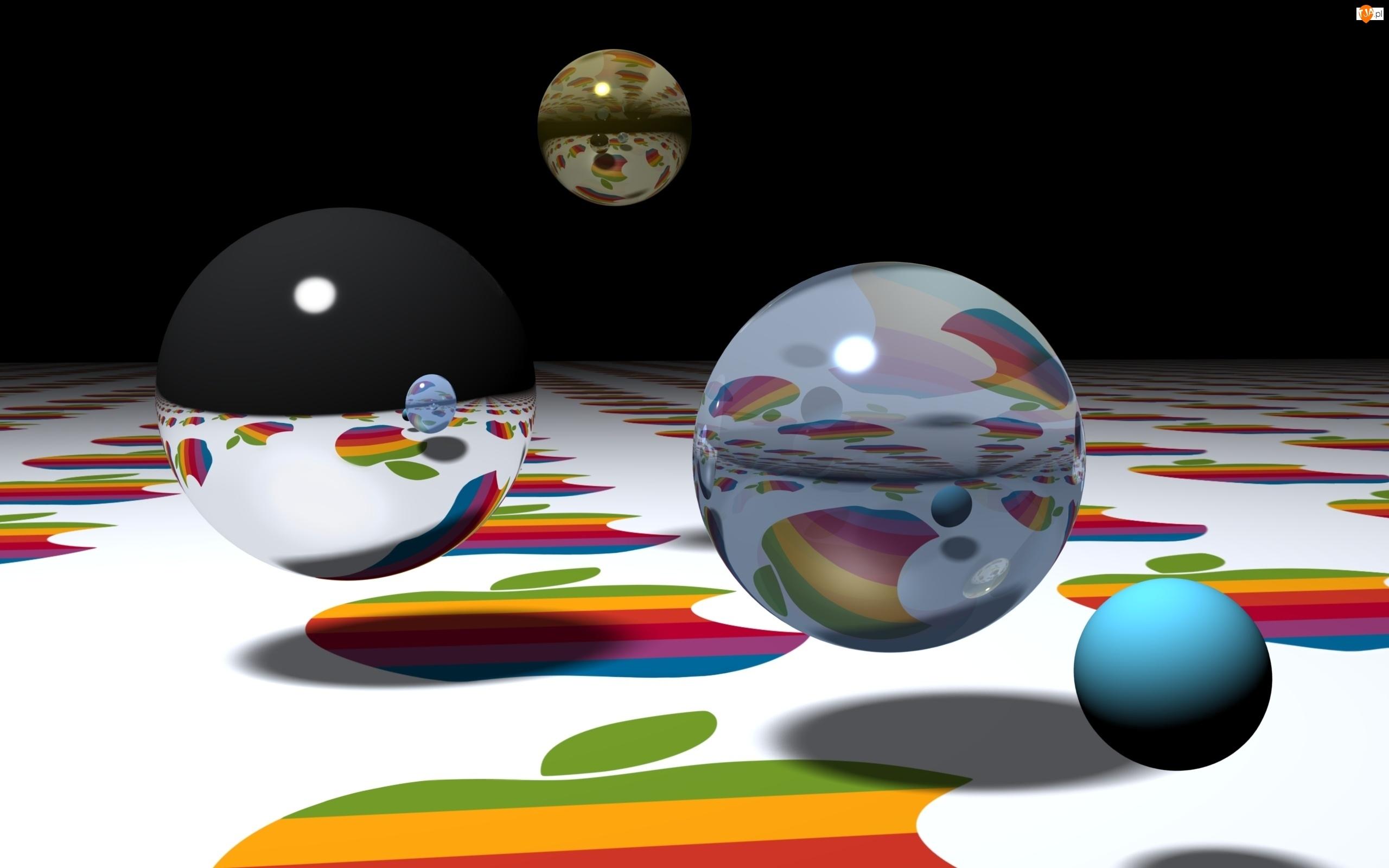 Kule, Apple, Grafika 3D