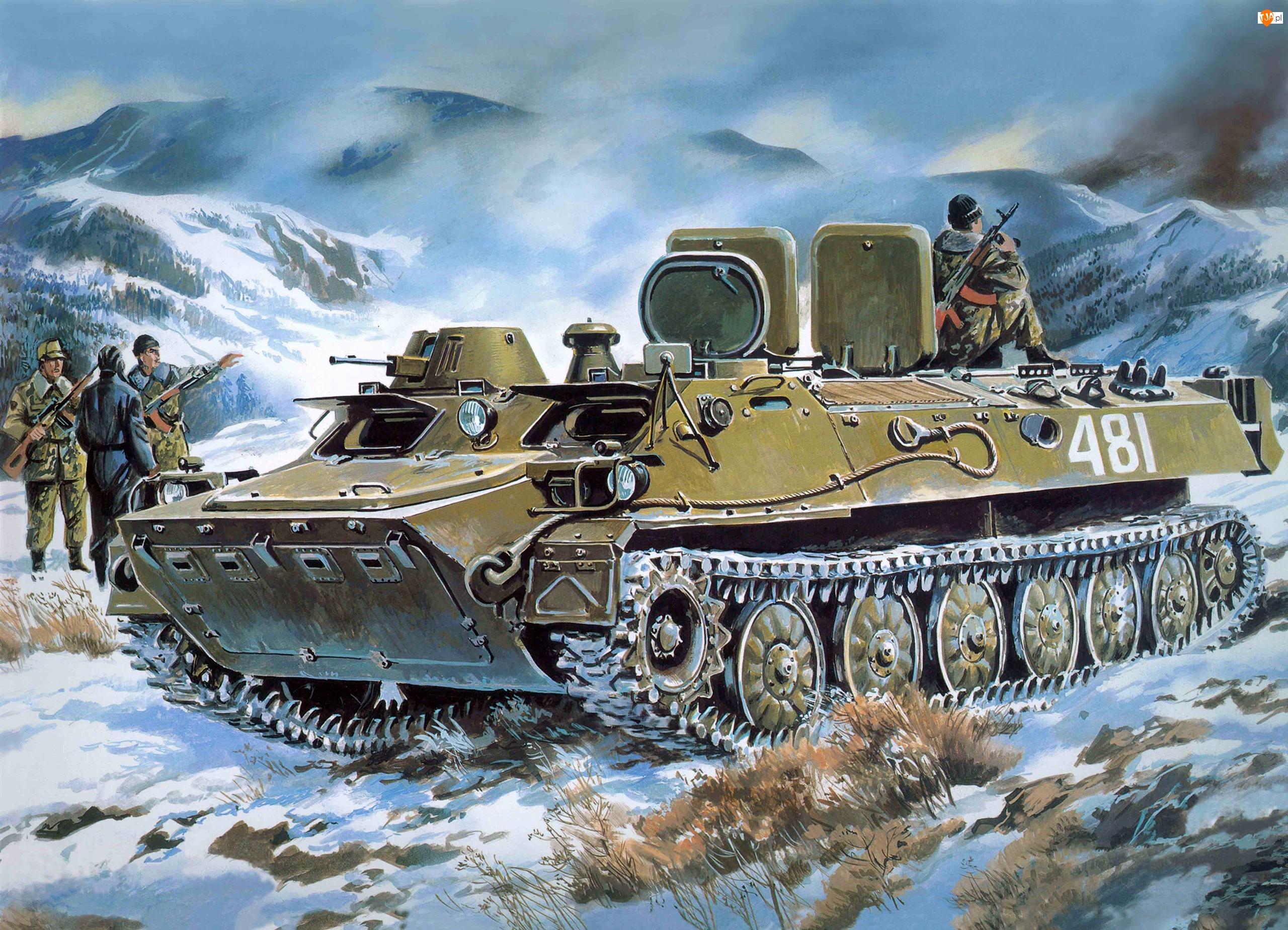 Zima, Czołg, Żołnierze