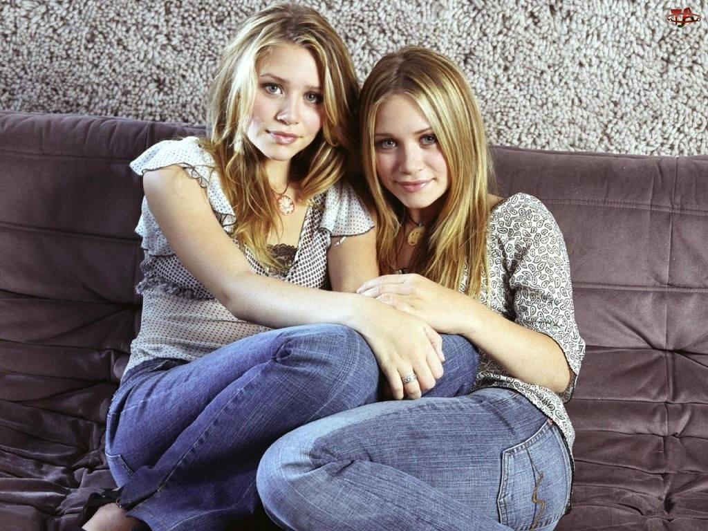 Blizniaczki Olsen, niebieskie jeansy