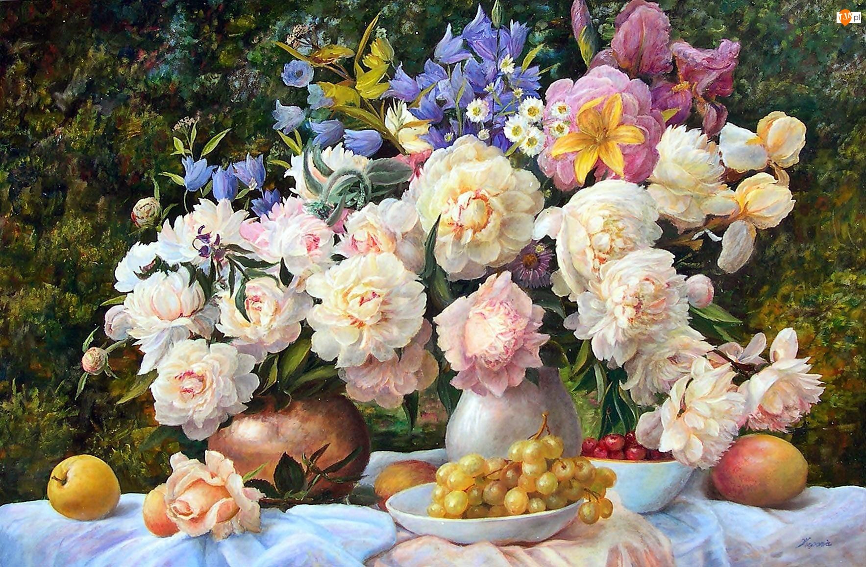 Wazon, Kwiatów, Zbigniew, Owoce, Kopania, Bukiet
