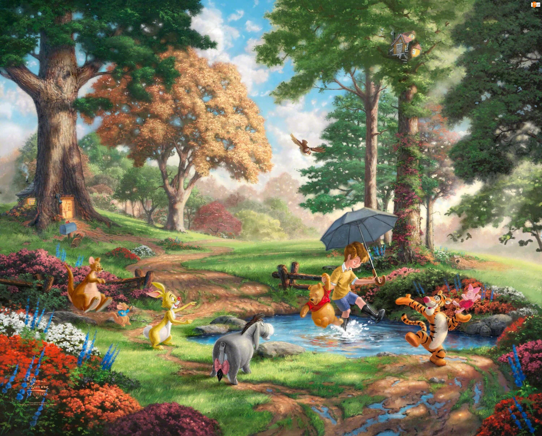 Thomas Kinkade, Malarstwo, Kubuś Puchatek, Disney