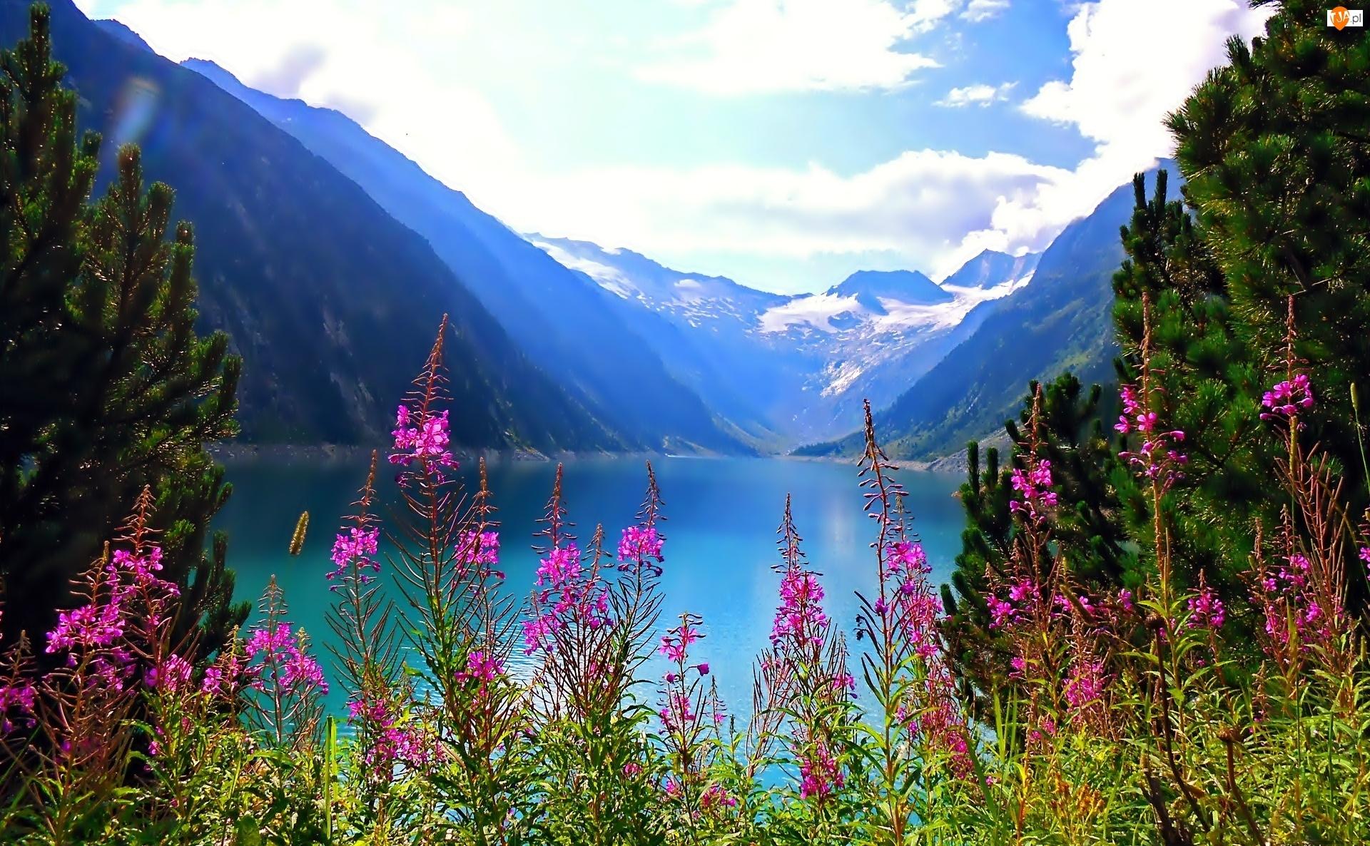 Kwiatki, Góry, Jezioro