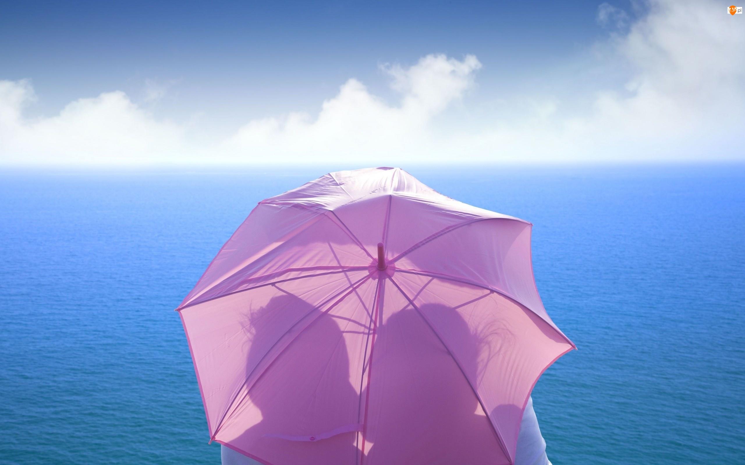 Morze, Cienie, Niebo, Parasolka