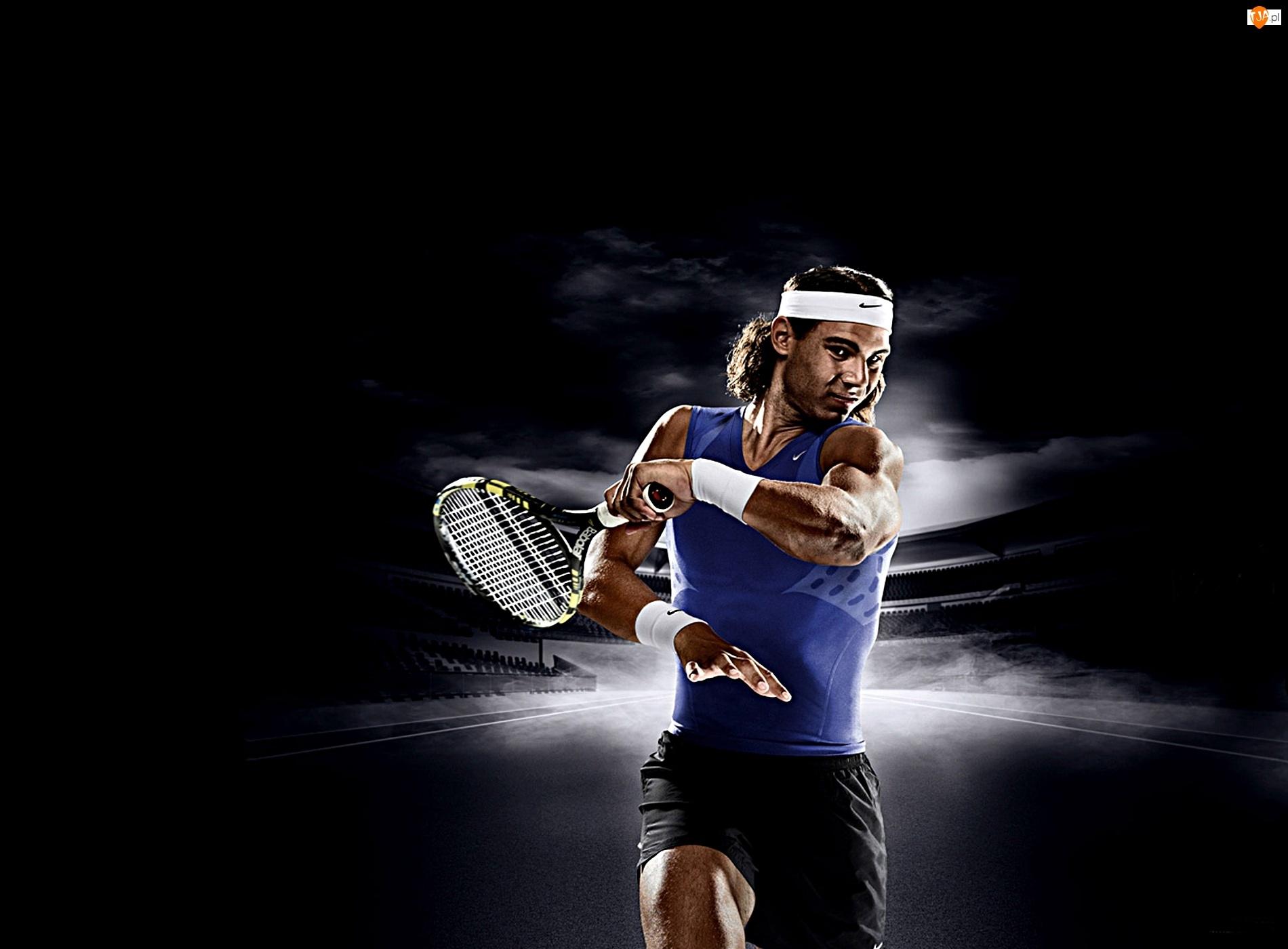 Rafael Nadal, rakieta tenisowa, tenis, sport
