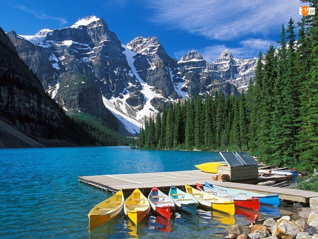 Kanada, Kajaki, Góry, Rzeka
