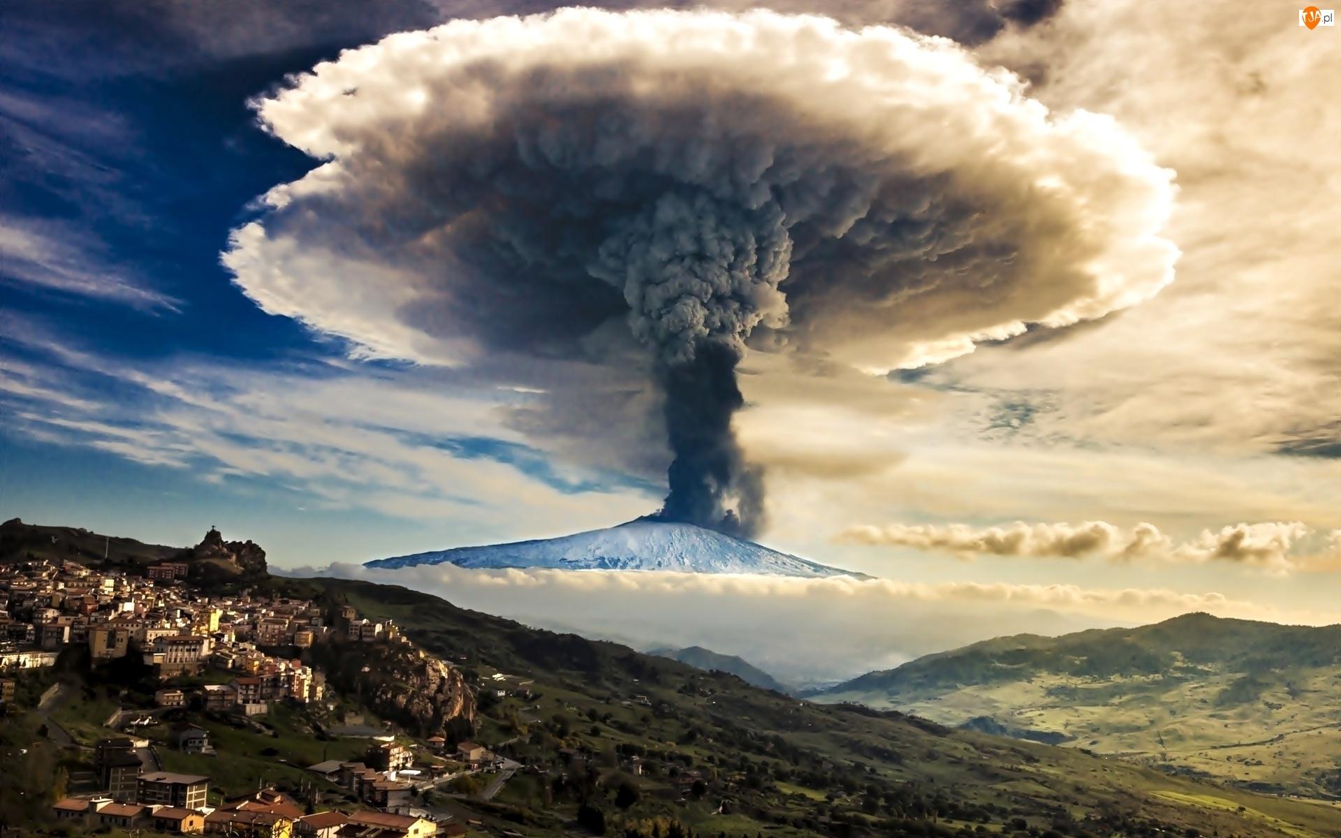 Wulkan, Włochy, Etna, Góry