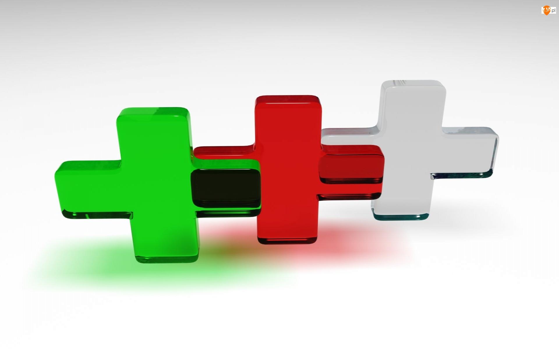 3D, Krzyże, Wektorowa, Kolorowe