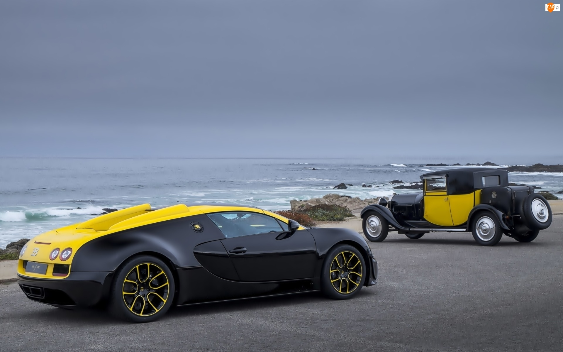 Morze, Samochody, Bugatti Veyron