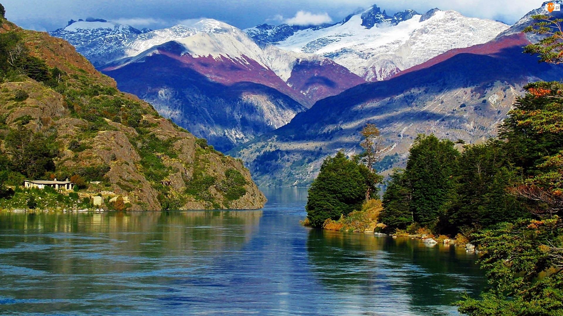 Góry, Las, Caleta, Dom, Tortel, Jezioro