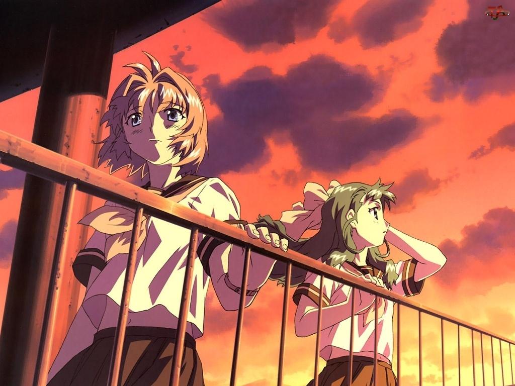 balkon, Onegai Twins, ludzie
