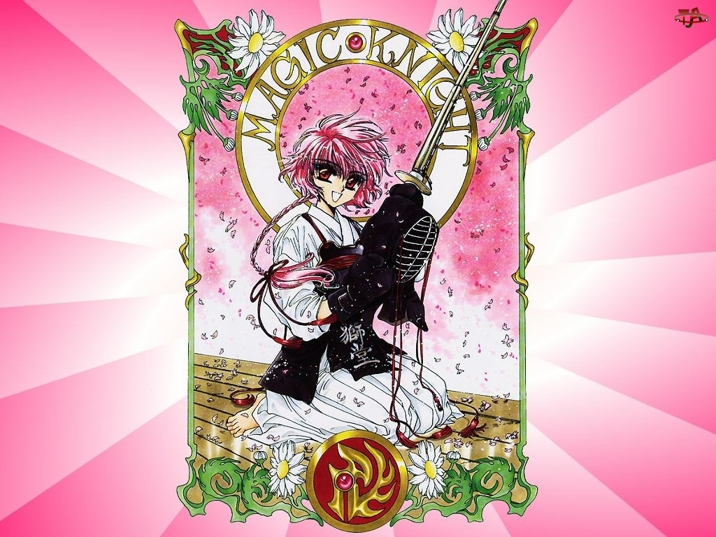 Magic Knight Rayearth, miecz, kobieta, maska
