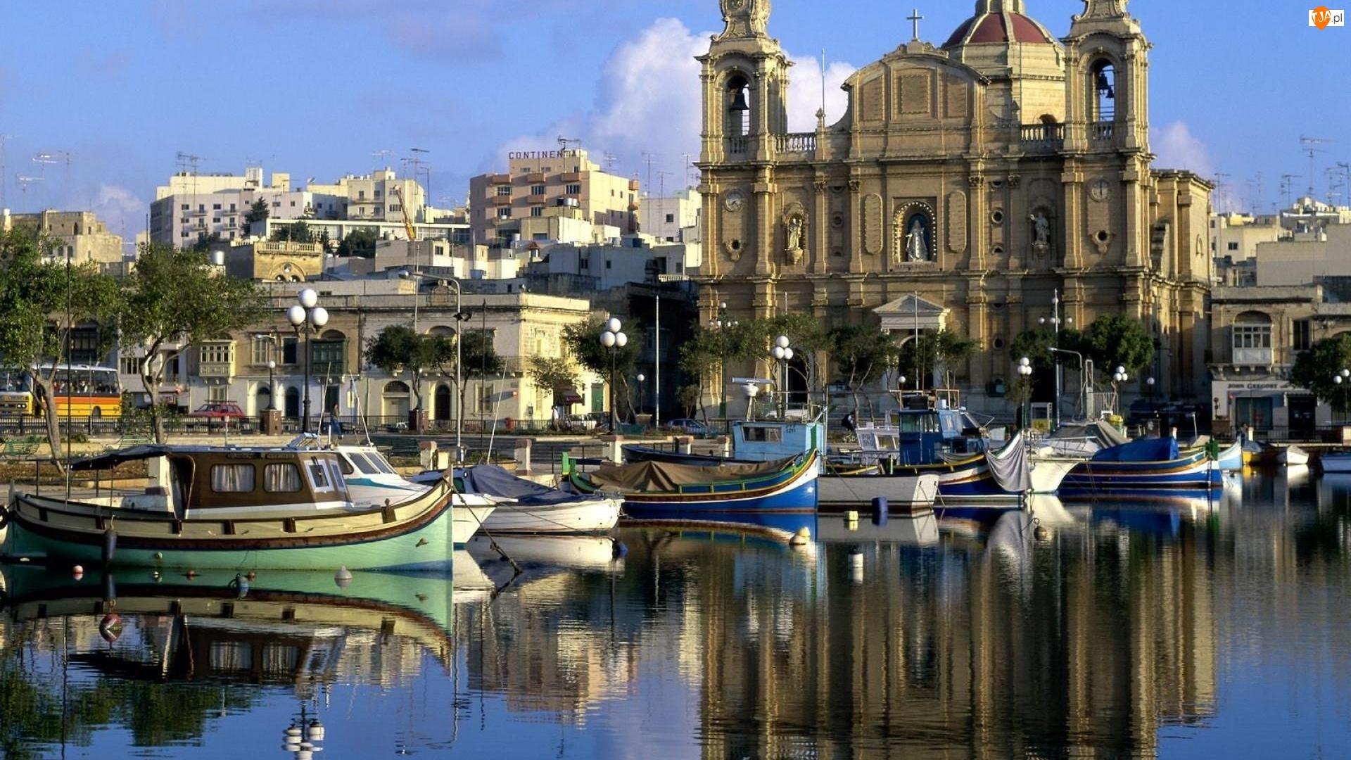 Domy, Malta, Port, Łódki