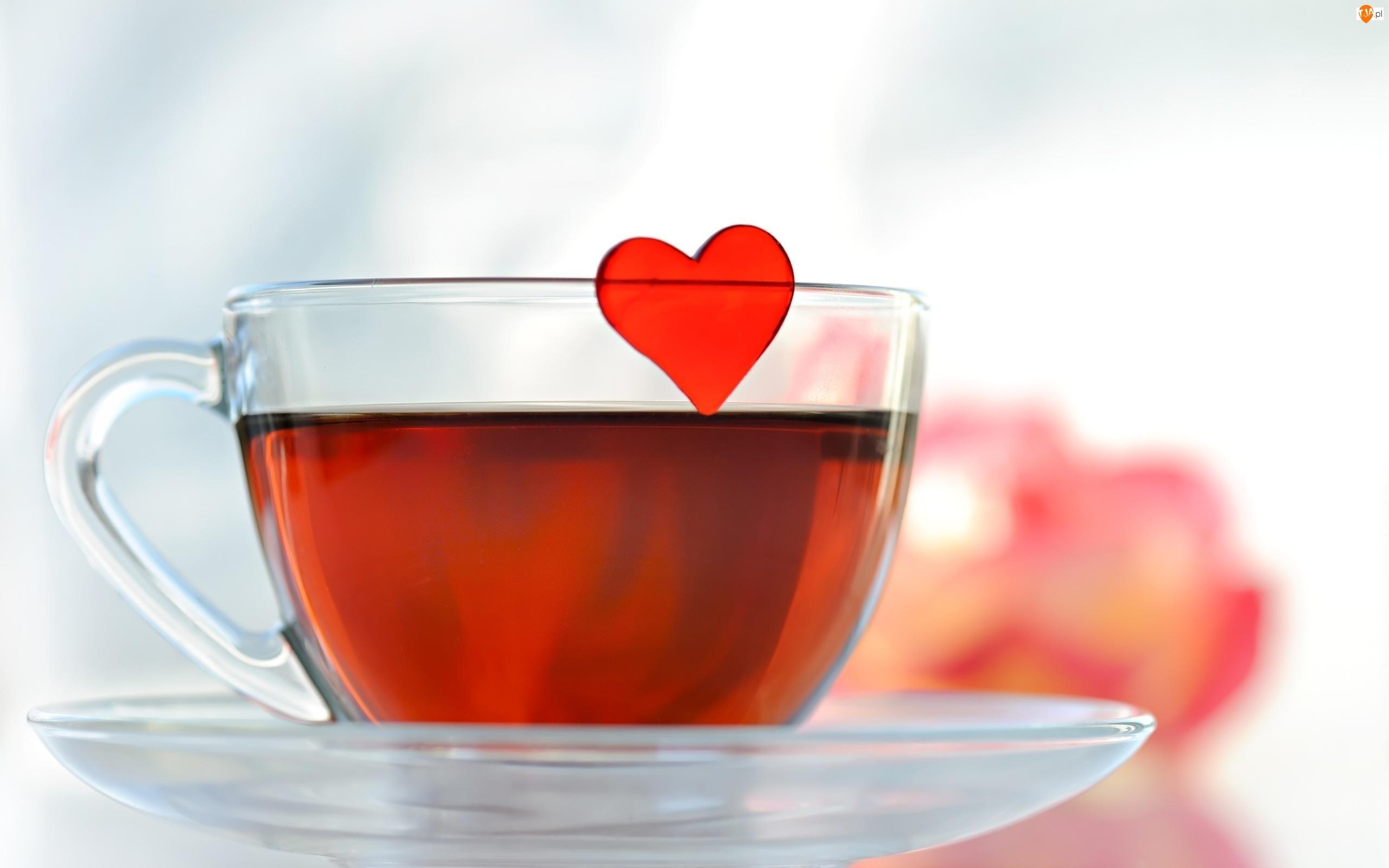 Serduszko, Herbata, Filiżanka