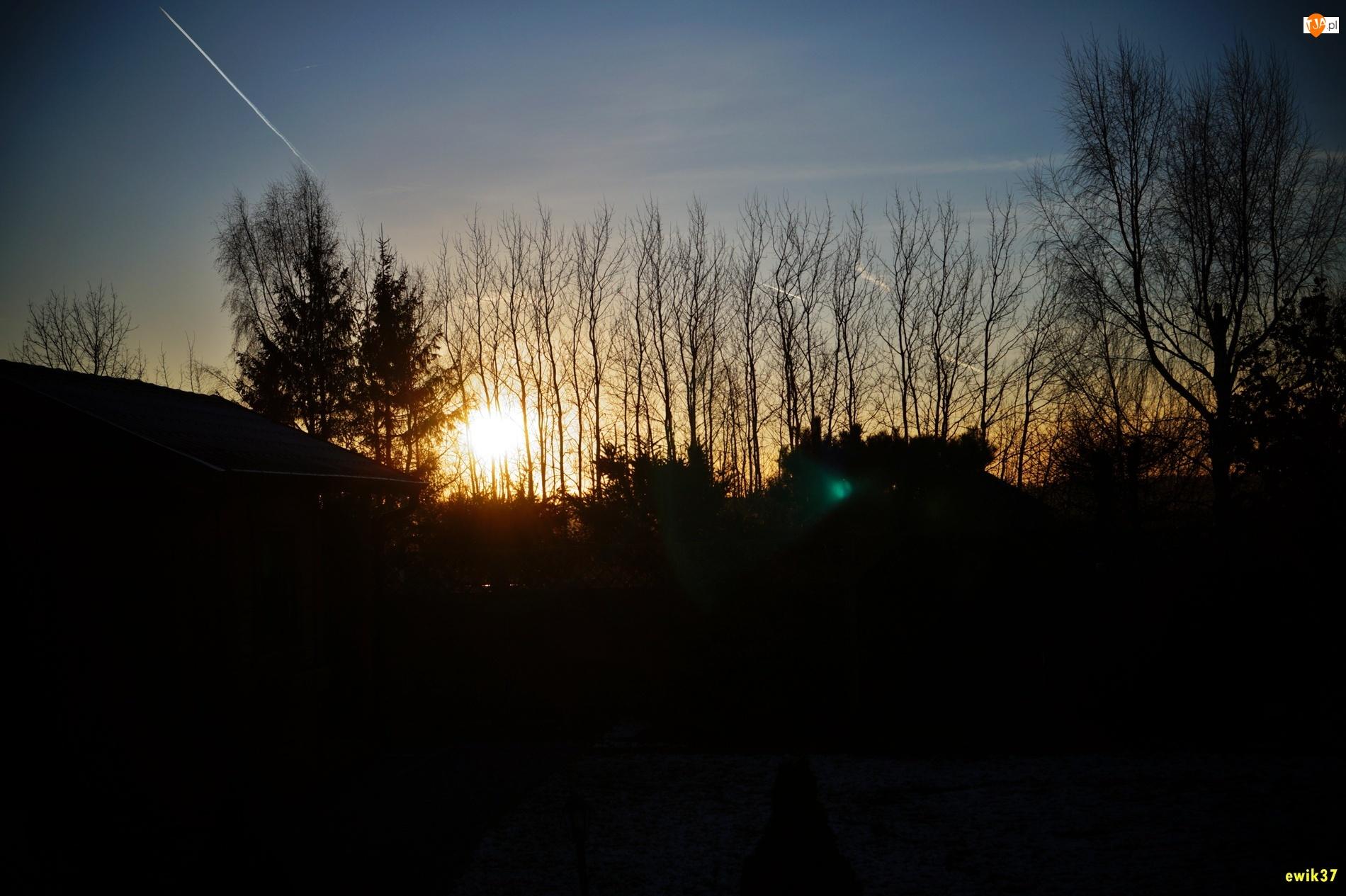 Wschód, Smugi, Słońca, Niebo