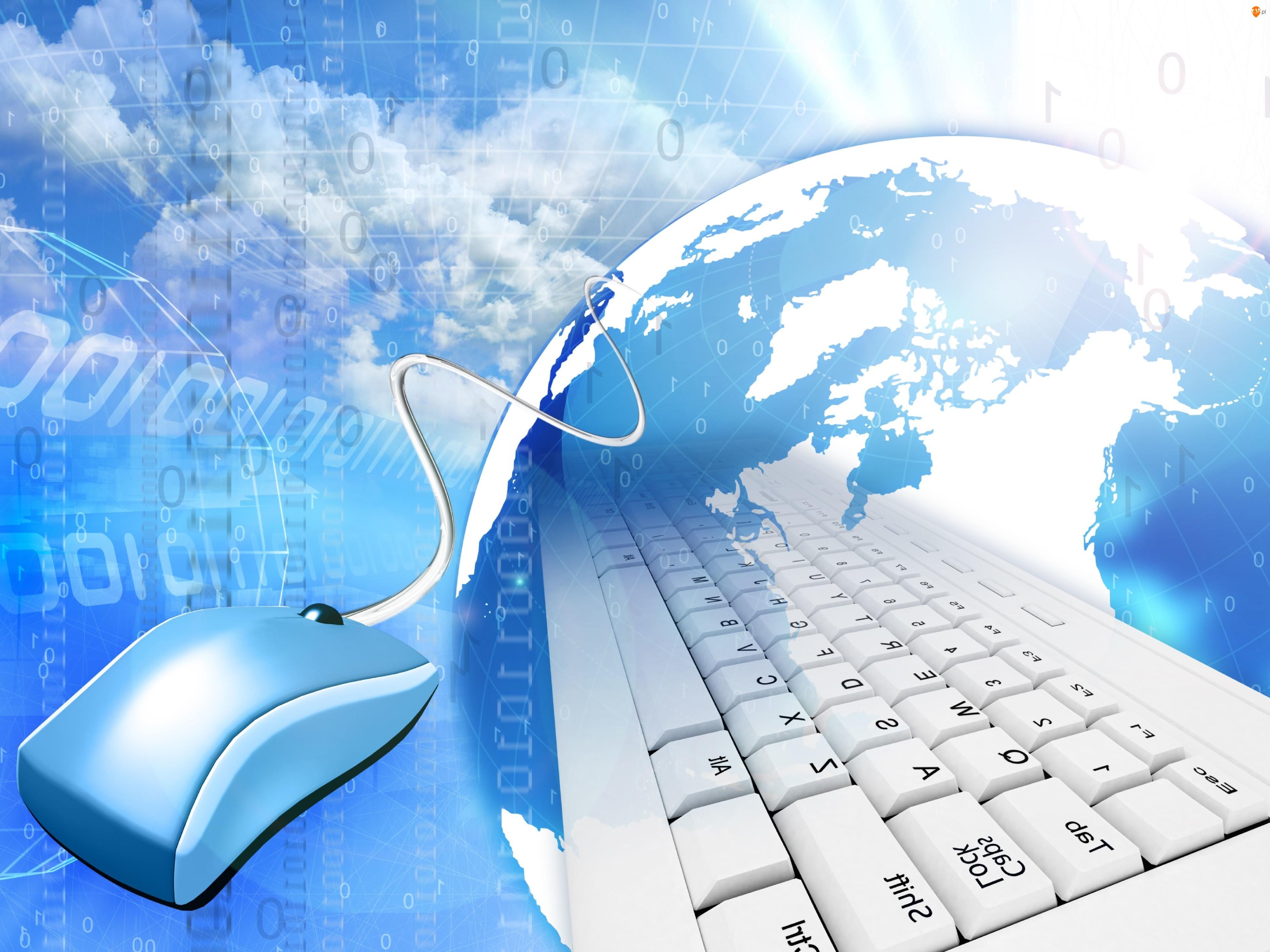 Myszka komputerowa, 3D, Internet, Technologia, Klawiatura
