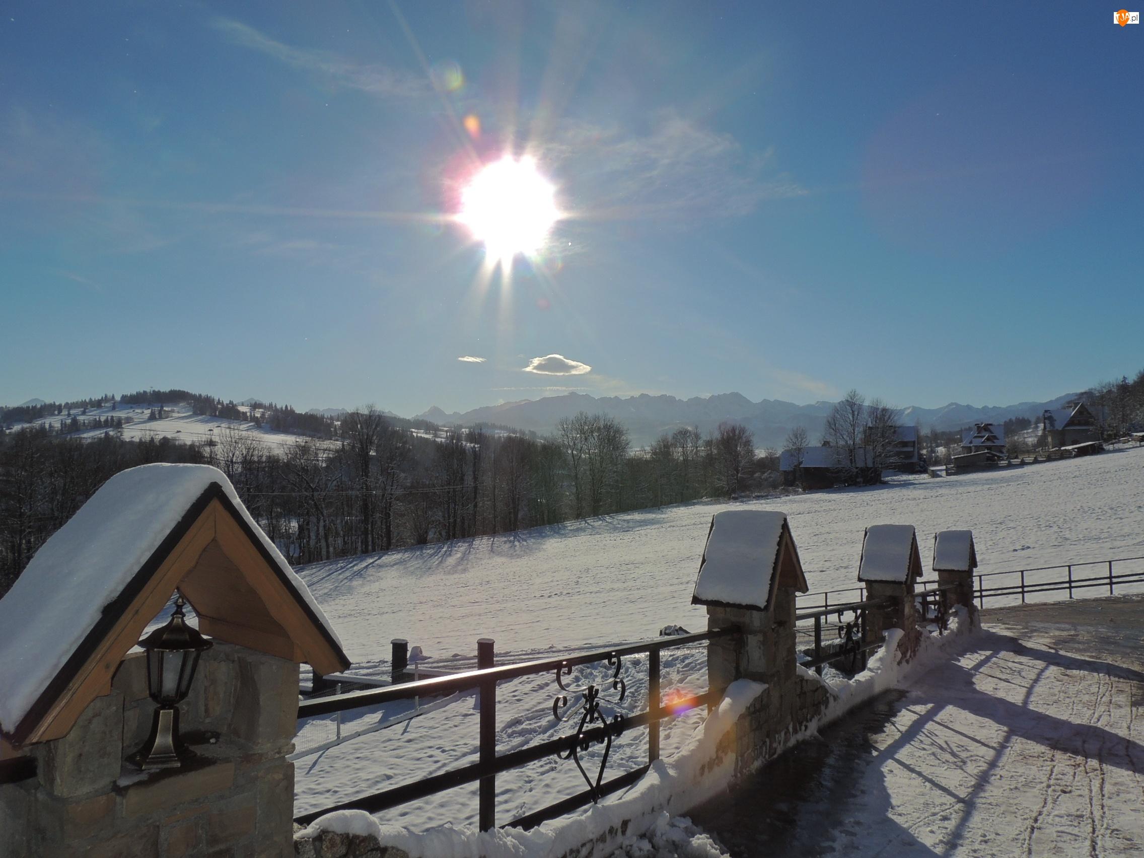 Zima, Góry, Śnieg