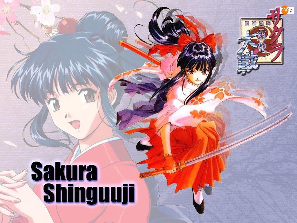 miecz, Sakura Wars, długie włosy
