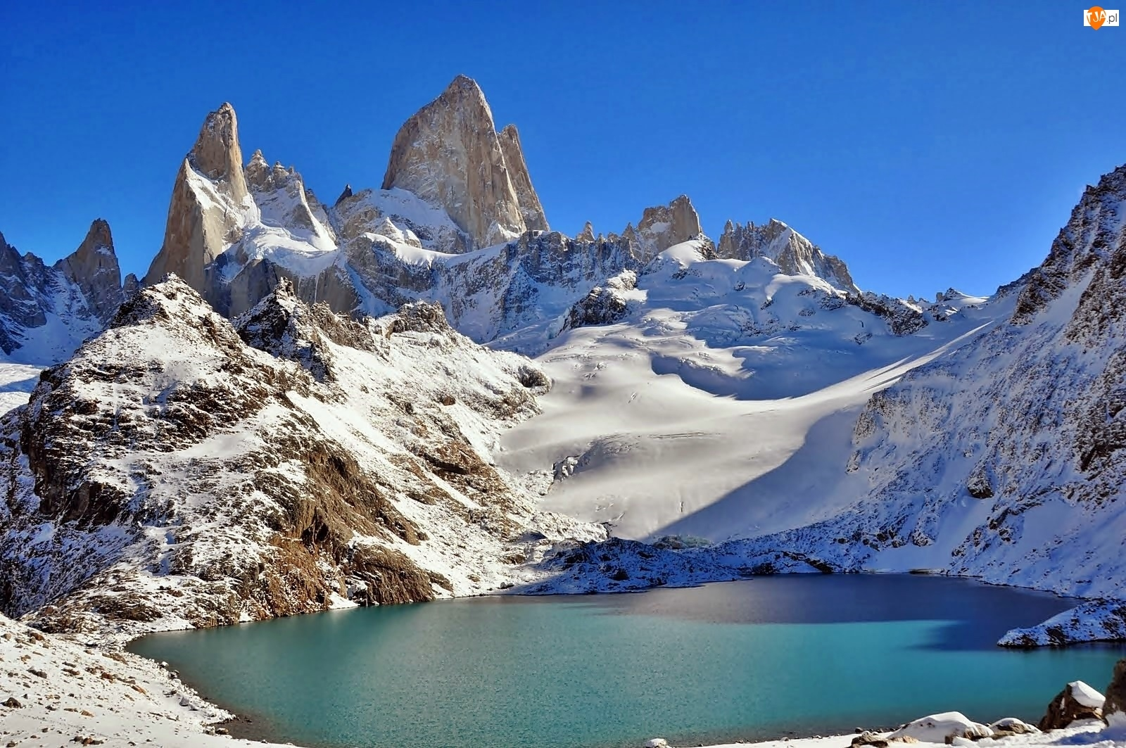 Góra, Staw, Fitz Roy, Patagonia