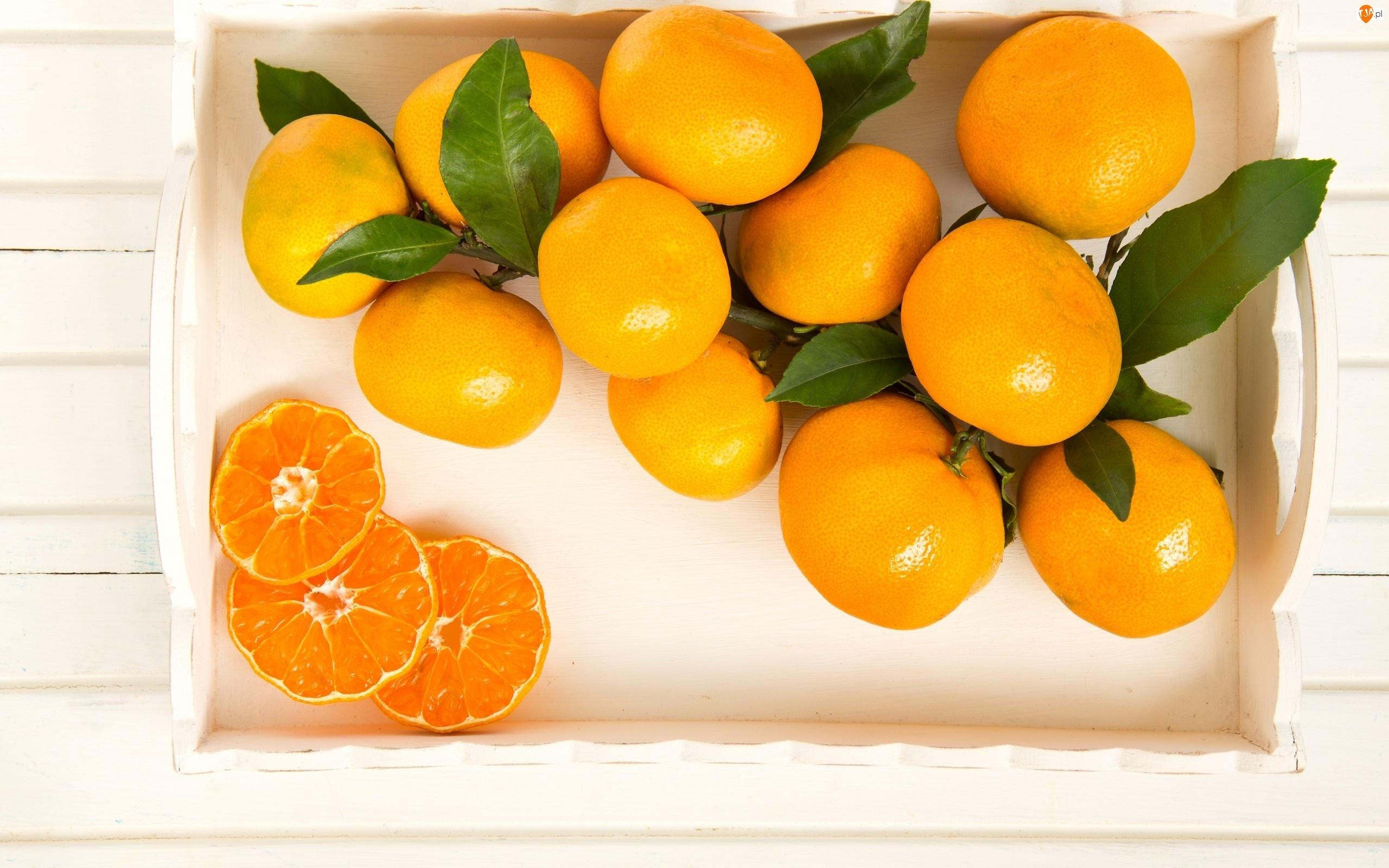 Mandarynki, Taca, Owoce