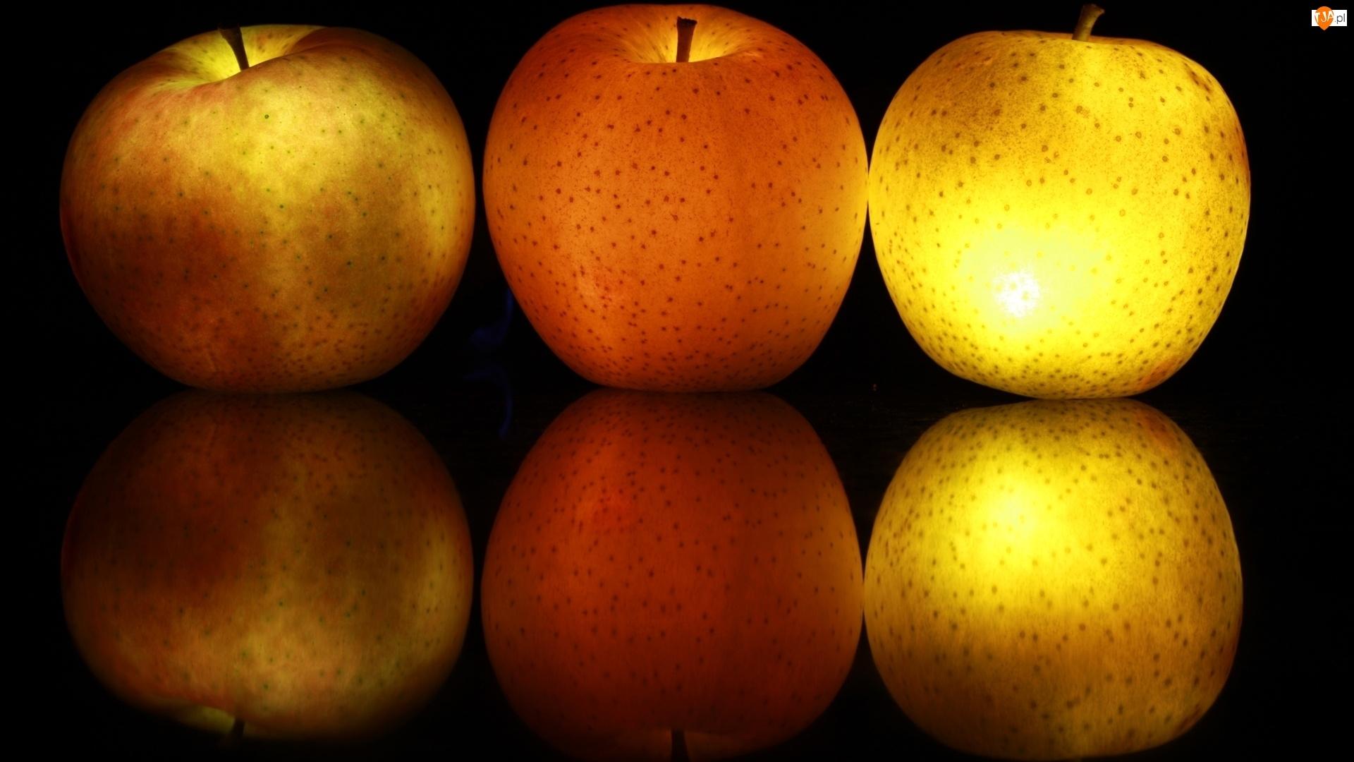 3D, Owoce, Jabłka