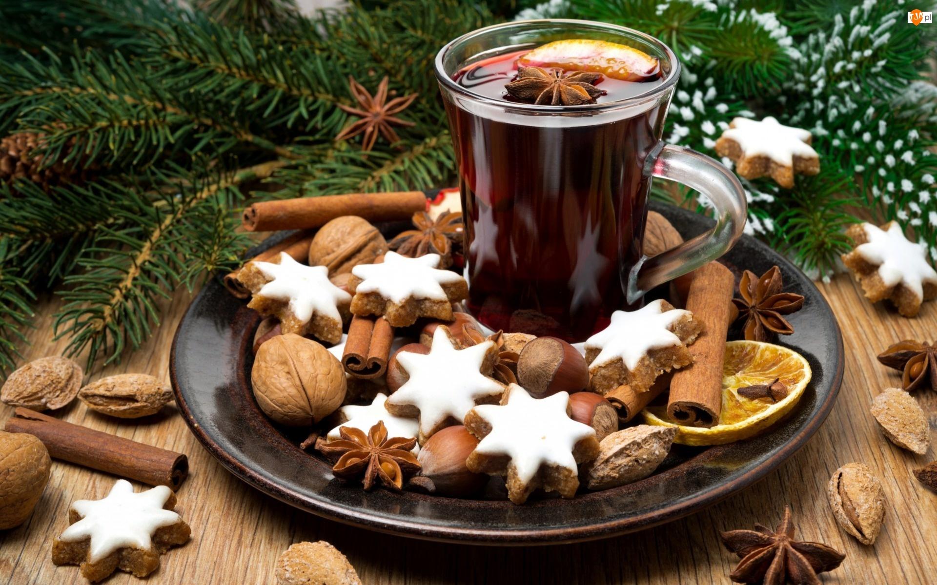 Orzechy, Świątecznie, Pierniczki, Kawa, Ciasteczka