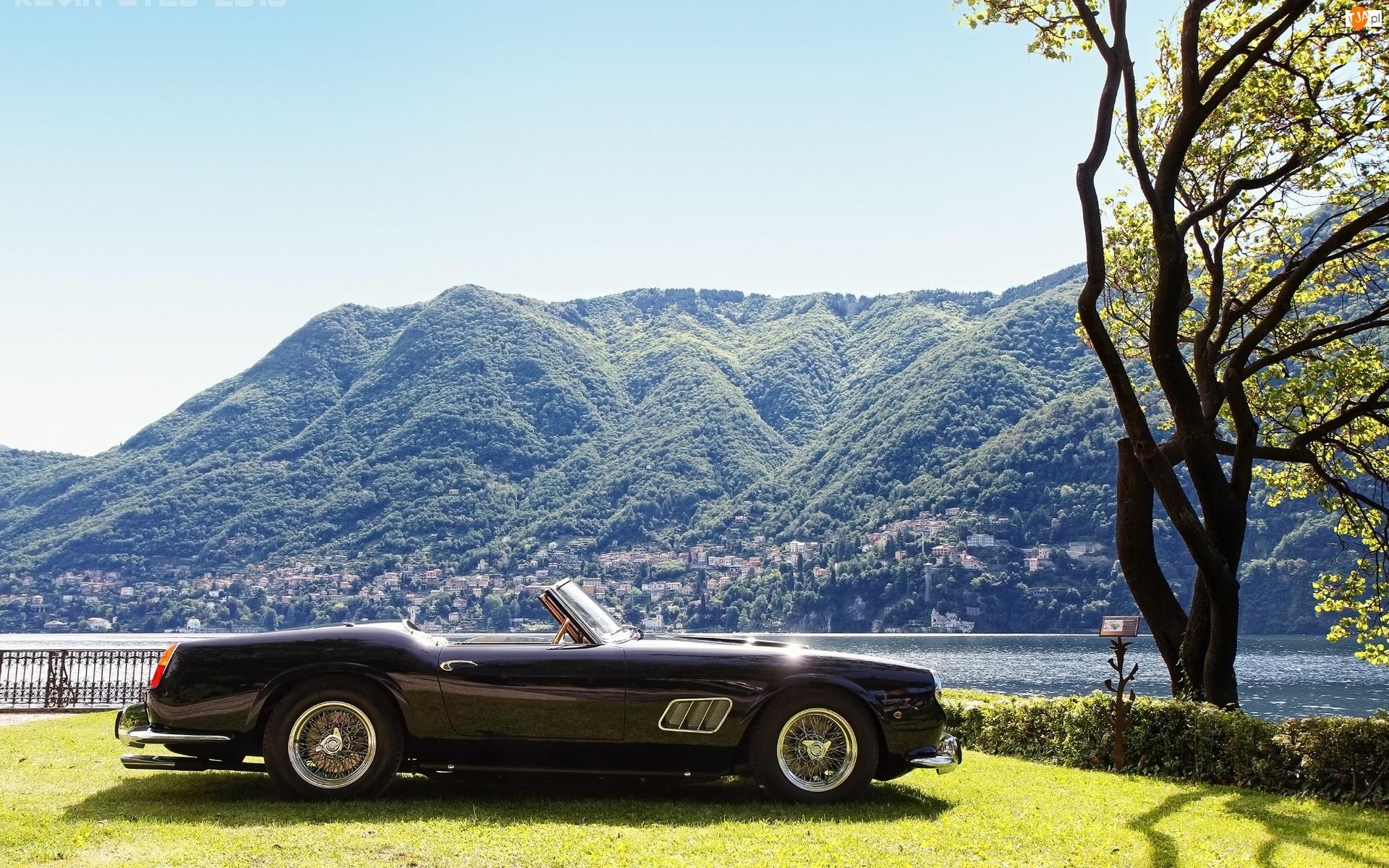 Jezioro, Ferrari, 1961r, 250GT, Góry