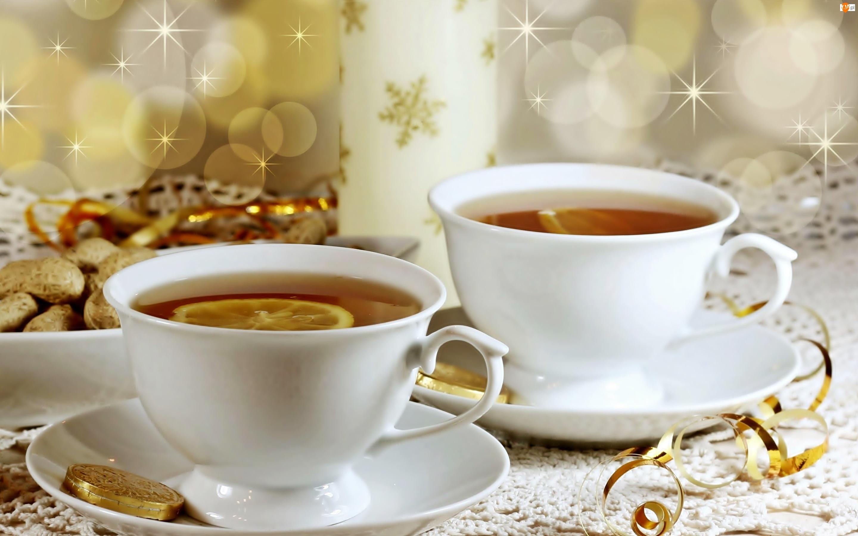 Herbata, Dekoracje, Z Cytryną, Ciasteczka