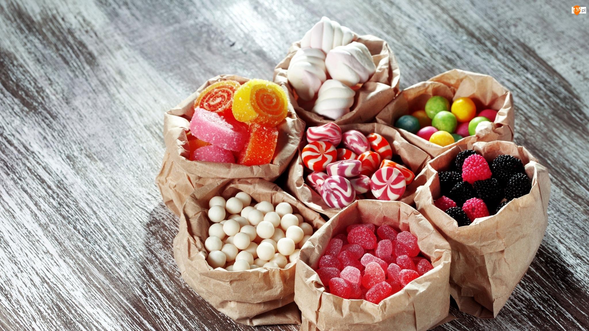 Słodycze, Bezy, Cukierki, Lizaki