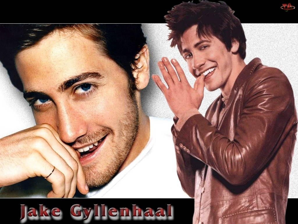 Jake Gyllenhaal, brązowa kurtka