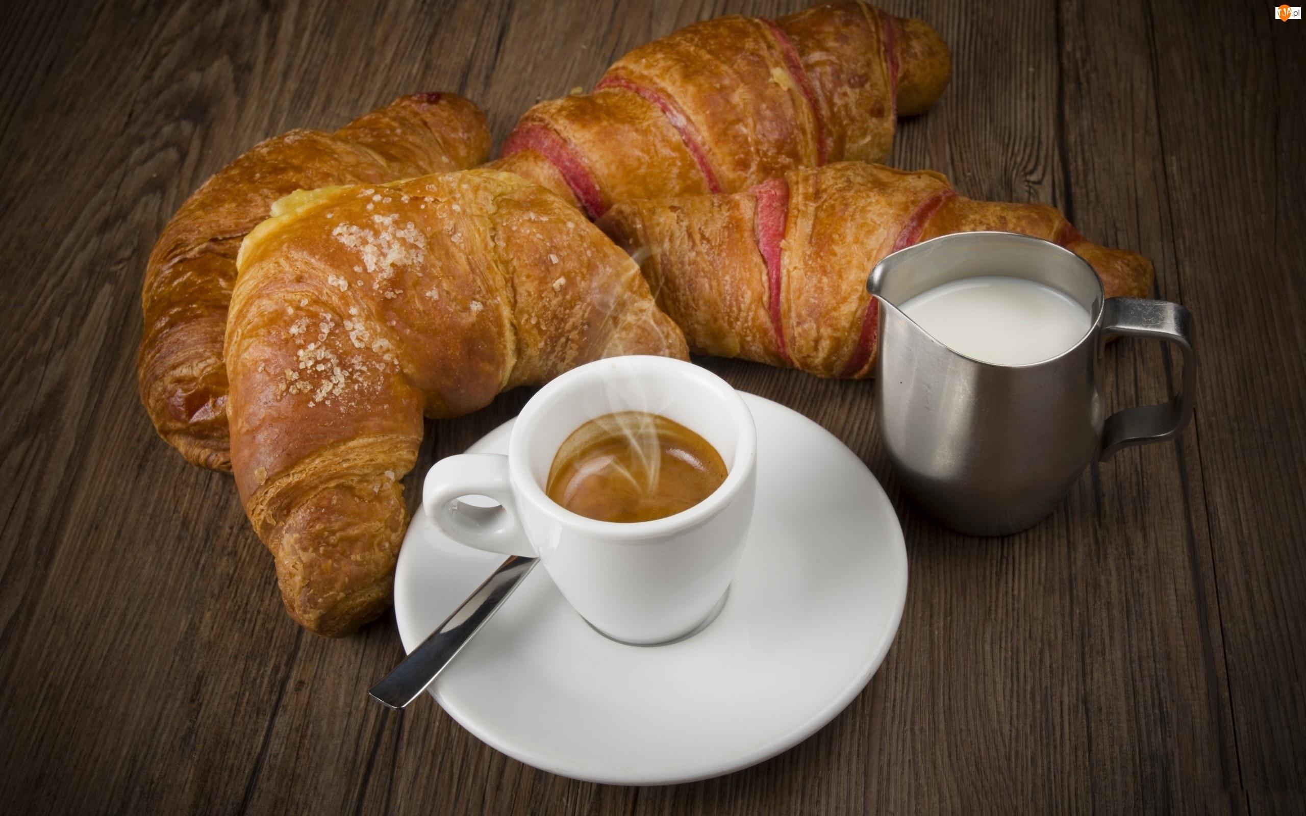 Sniadanie, Rogaliki, Kawa