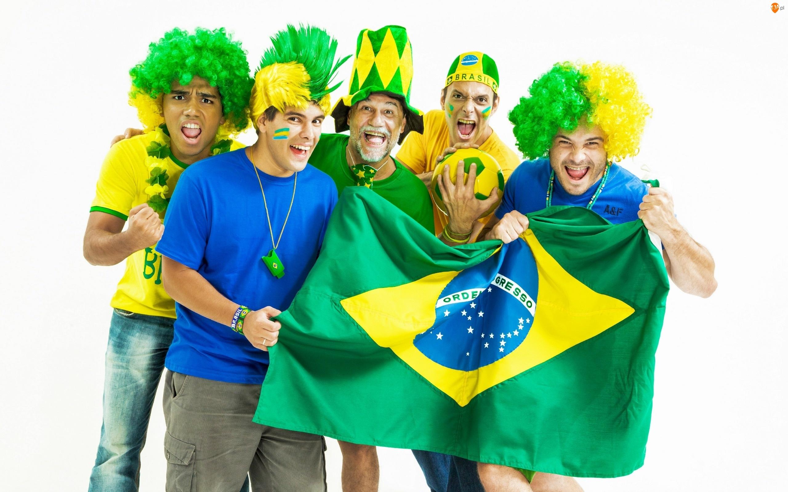 Flaga, Świata, Brazylijscy, 2014, Kibice, Mistrzostwa