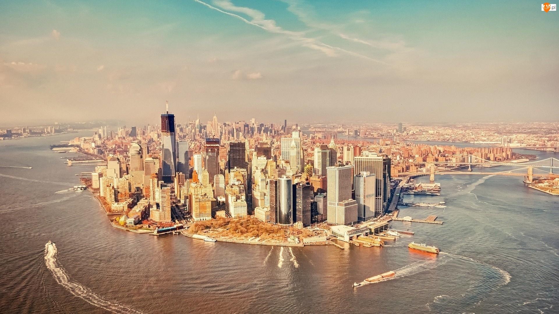 Nowy Jork, Manhattan, Z Lotu Ptaka