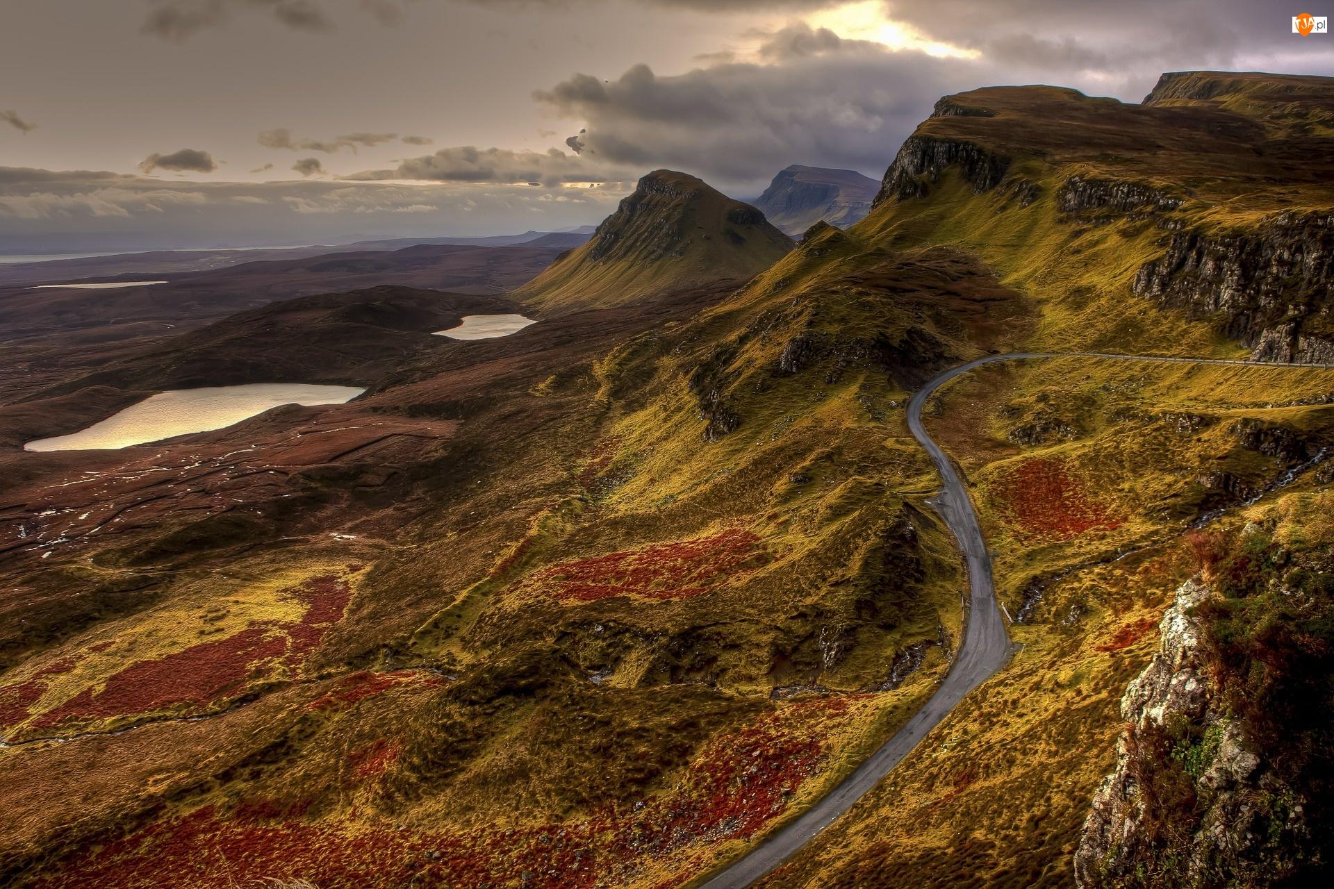 Szkocja, Góry, Wielka Brytania, Droga