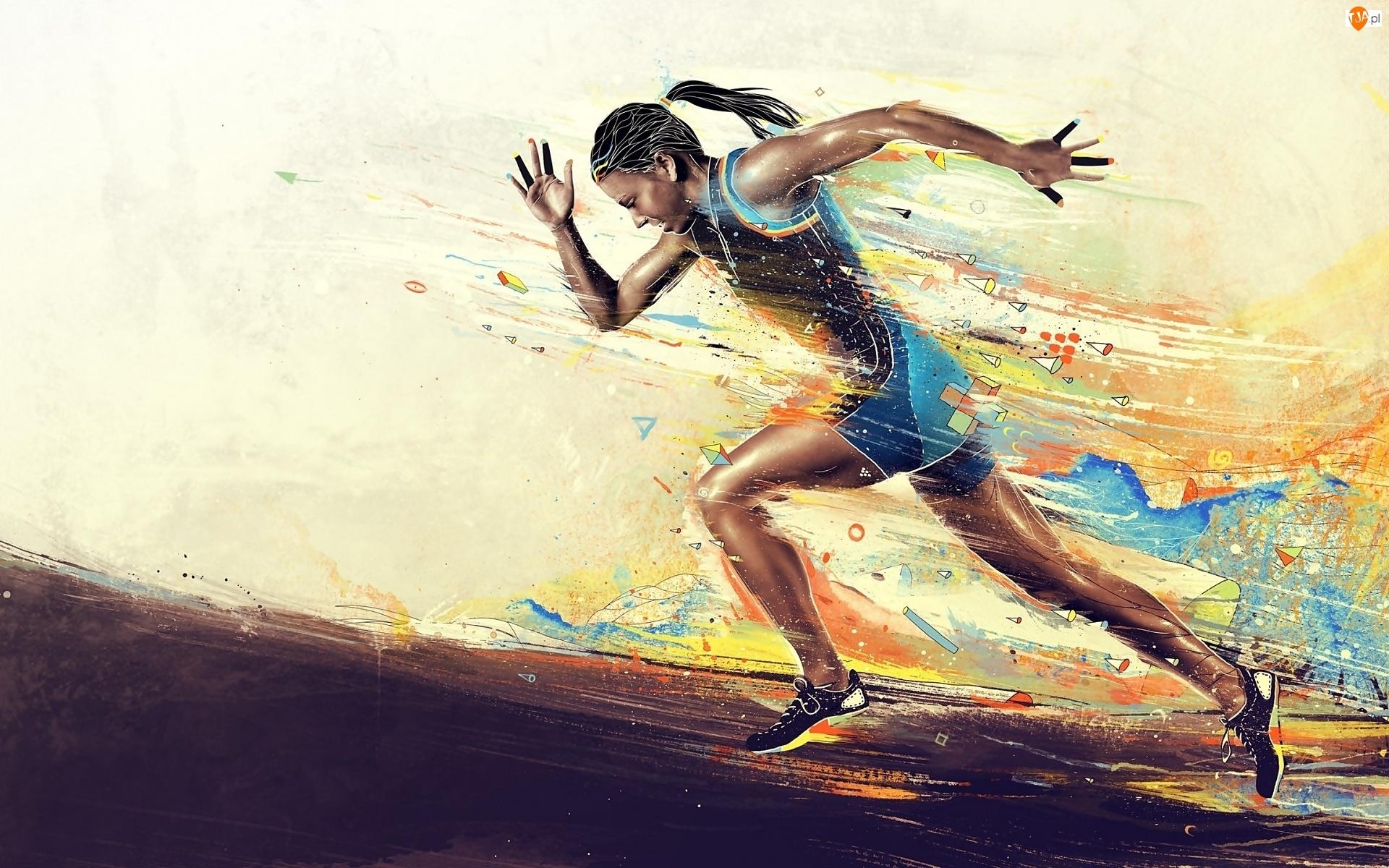Kobieta, Lekkoatletyka, Sport, Bieg