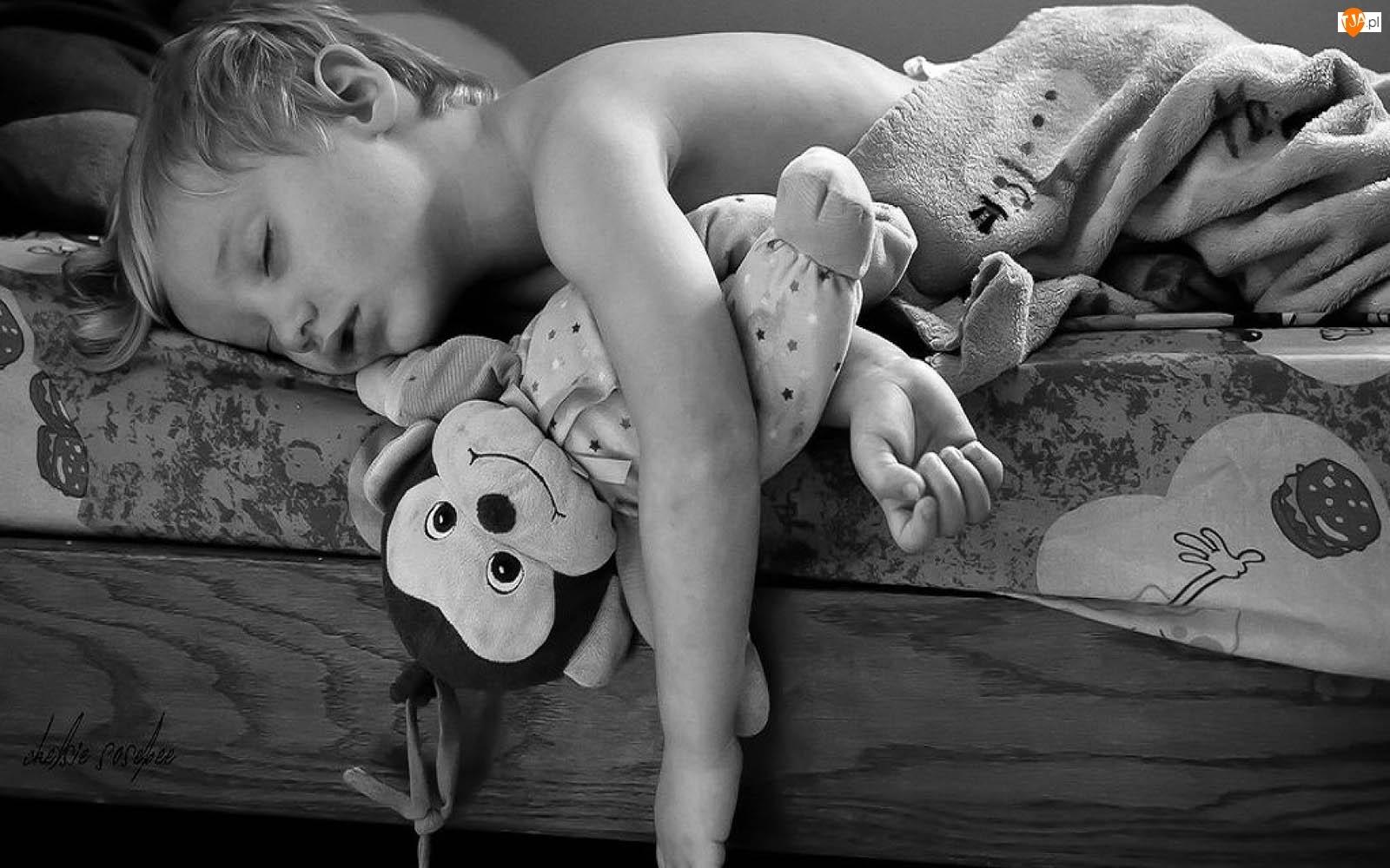 Myszka, Śpiące, Sen, Dziecko, Zabawka
