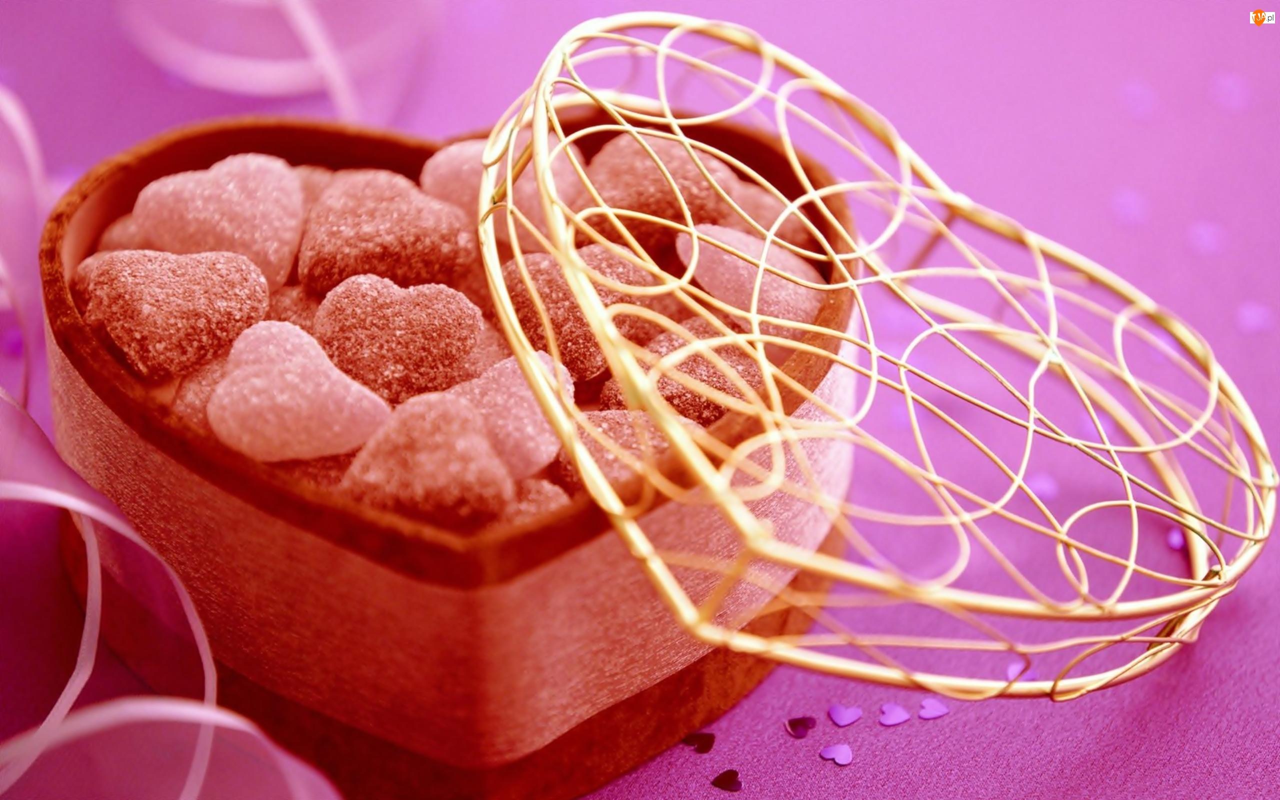 Walentynki, Serduszko ze słodyczami