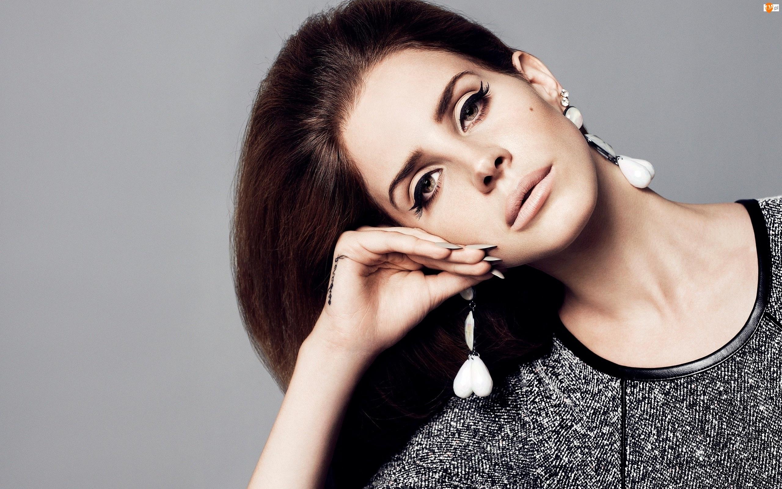 Kolczyki, Kobieta, Lana Del Rey, Piosenkarka, Dłoń