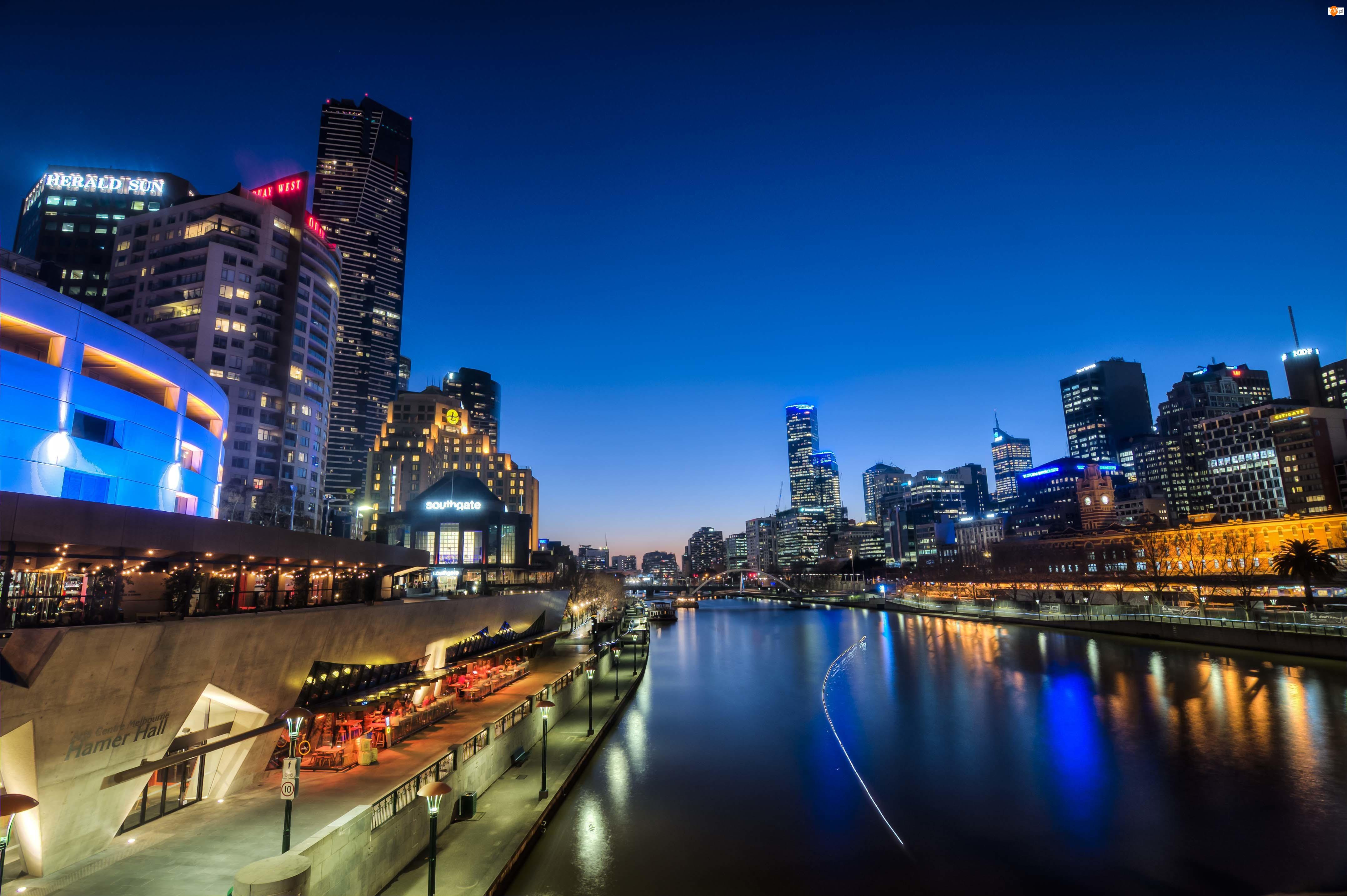 Miasto, Melbourne nocą